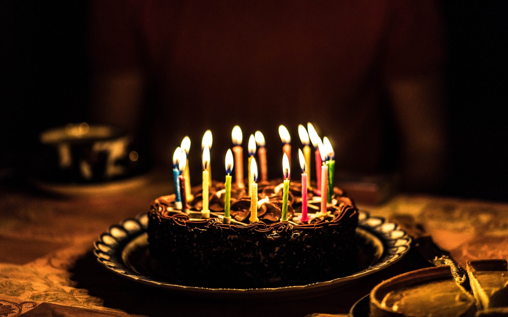 Открытки с днем рождения торт и свечи