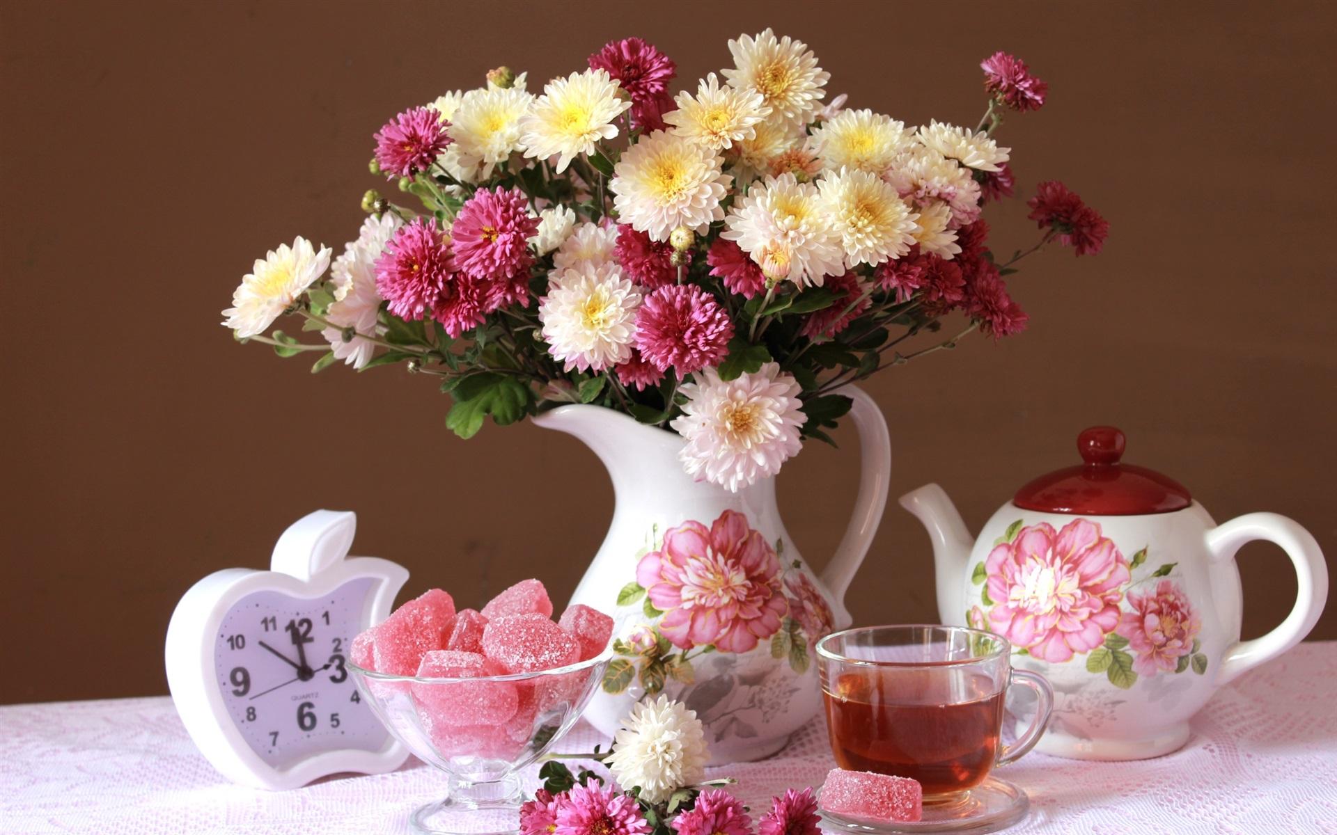 Открытка с цветами доброе утро хорошего дня