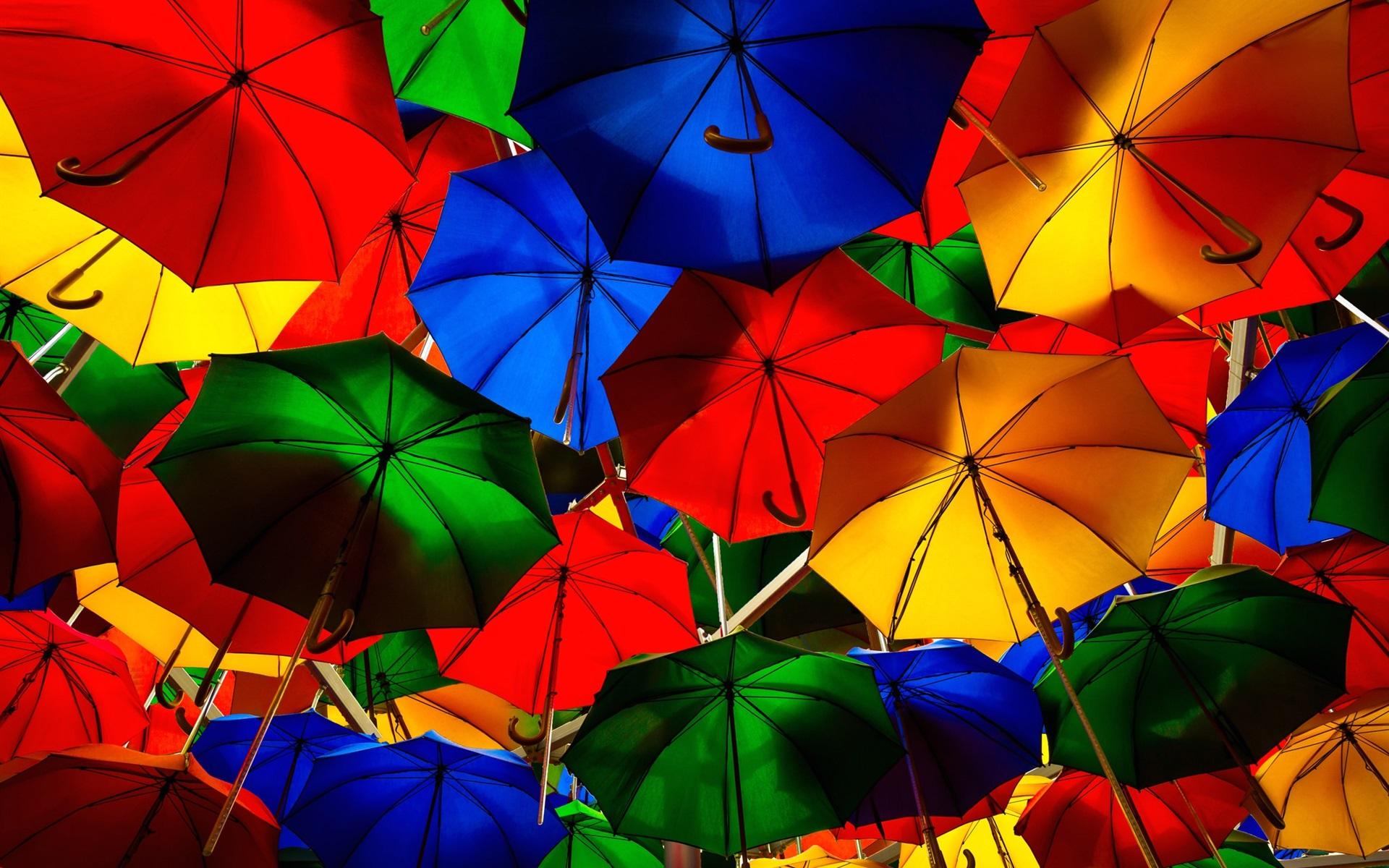 Fondos De Pantalla Paraguas De Colores, Calle 1920x1200 HD