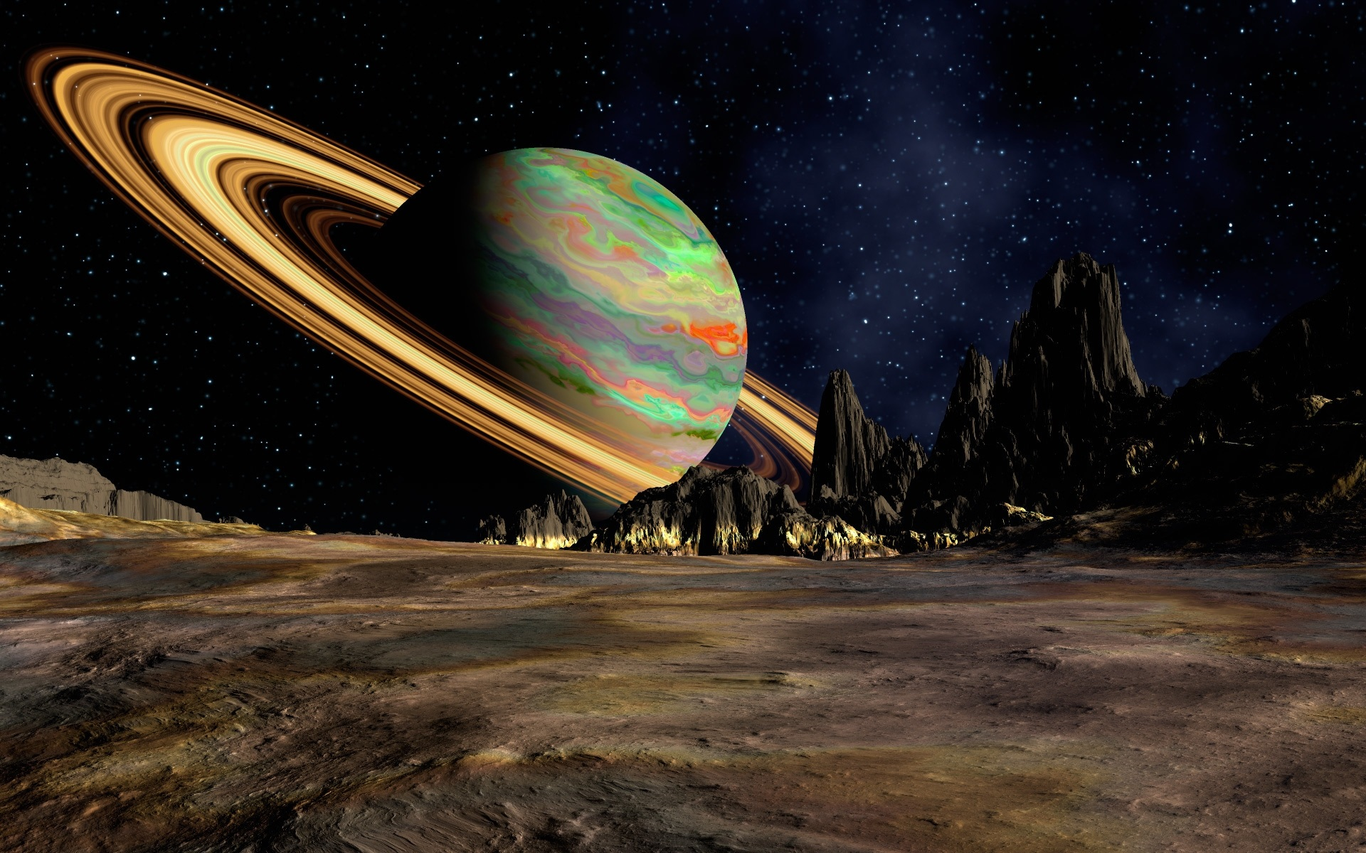 Wallpaper Saturn Ring Planet 1920x1200 Hd Picture Image