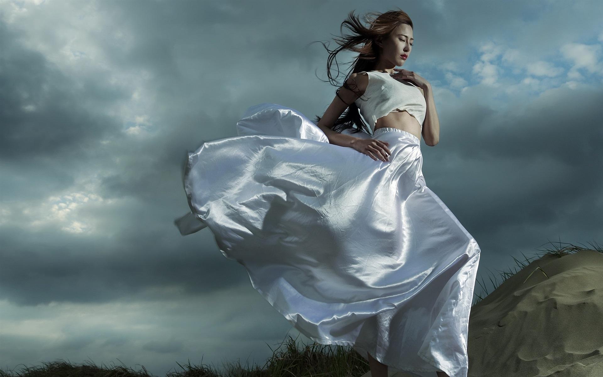 Женщина ветер картинка