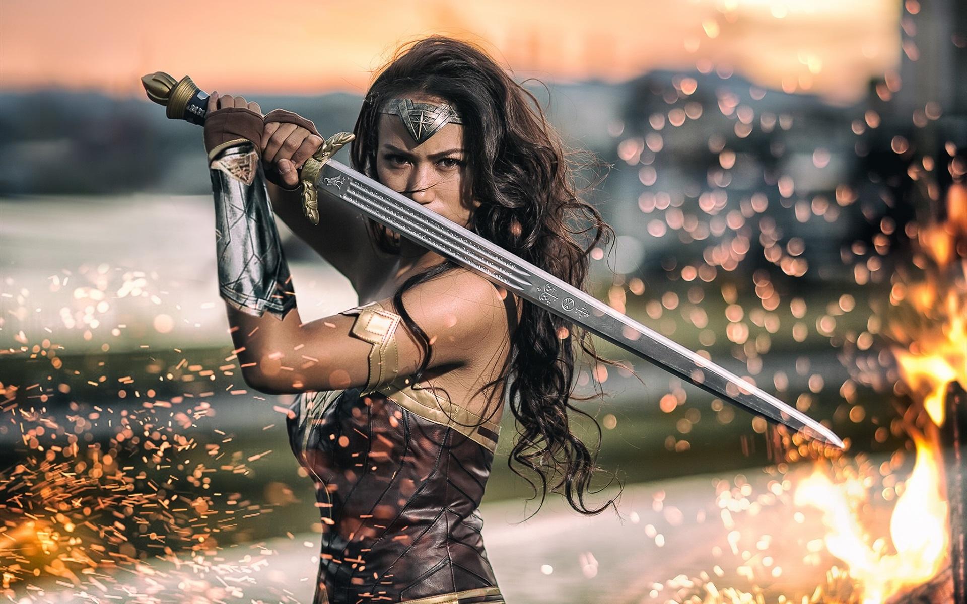 Девушка с мечом фотосессия #3