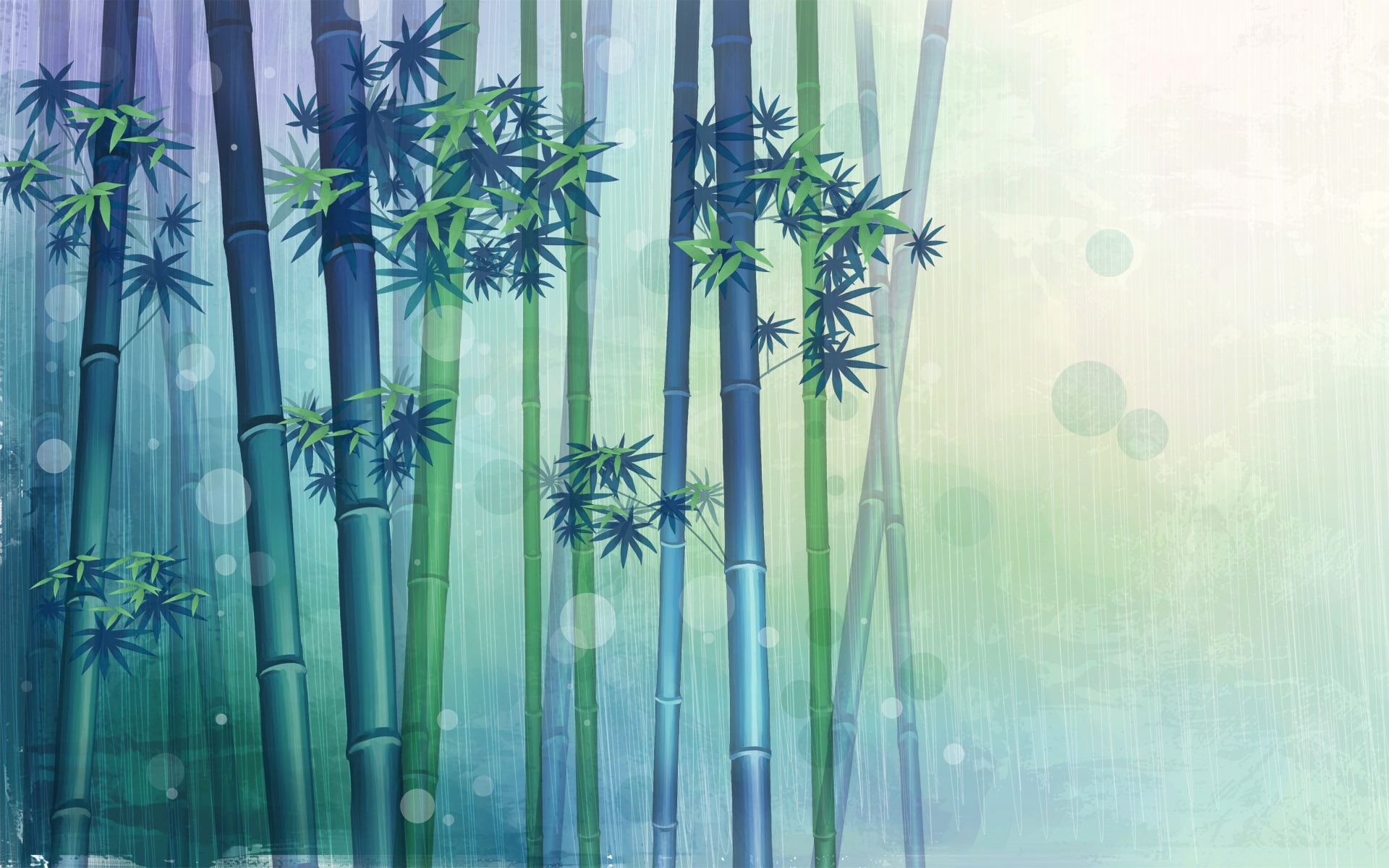 wallpaper bamboo forest, vector design 1920x1200 hd picture, image