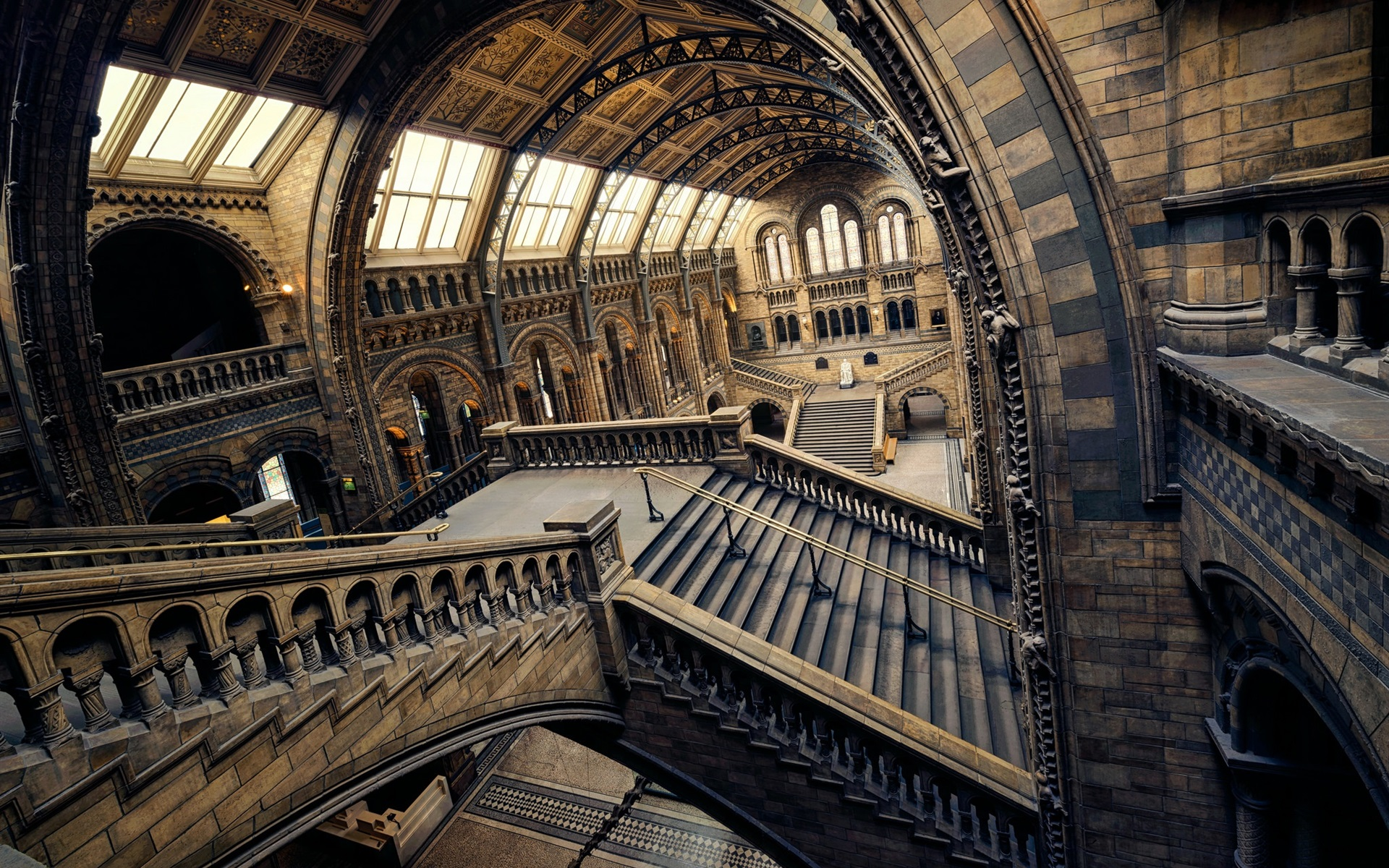 wallpaper museum of natural history, london, england 1920x1200 hd