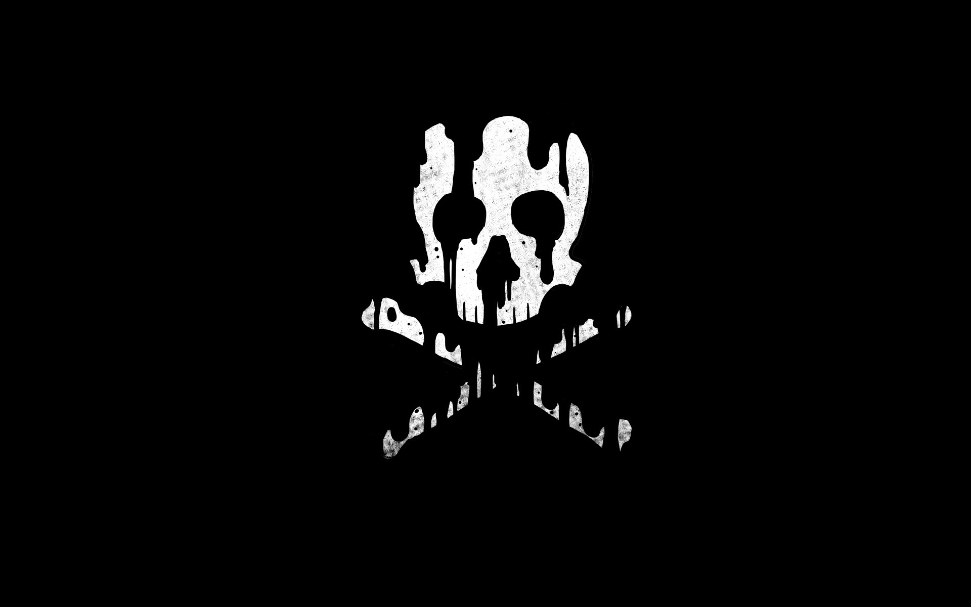 Wallpaper Skull Bones Black Background 1920x1200 Hd Picture Image