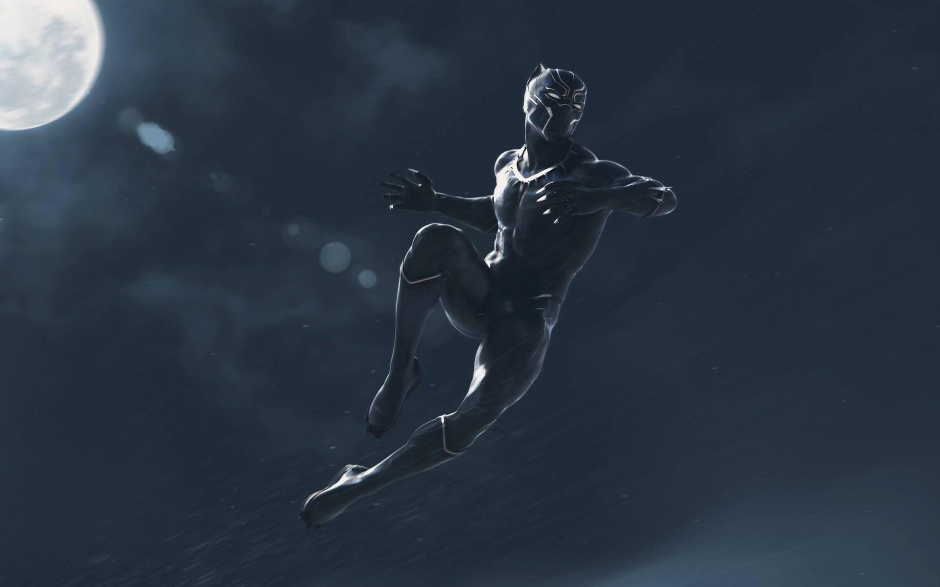 壁紙 ブラックパンサー ジャンプ 雨 アート写真 1920x1200 Hd 無料