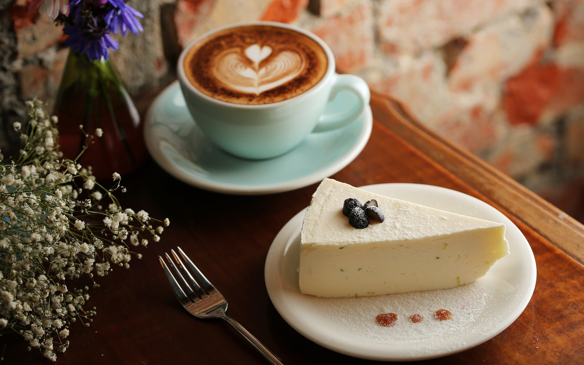 Wallpaper Cheese And Coffee Dessert 1920x1200 Hd Picture Image