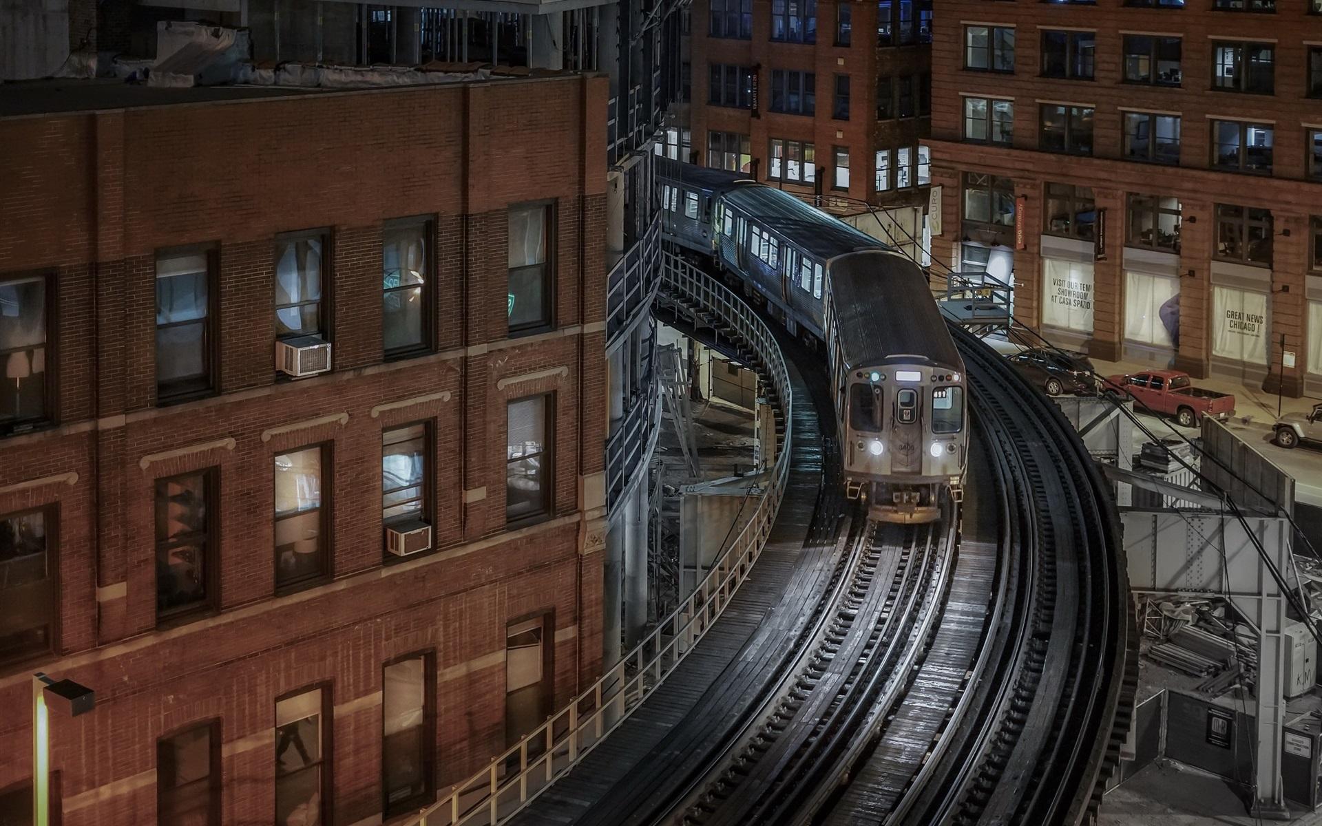 Обои ж/д дорога, небоскребы, chicago, чикаго. Города foto 15