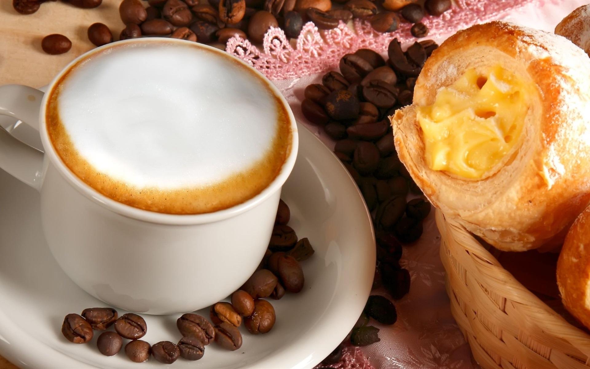 Кофе чашки кроасаны загрузить