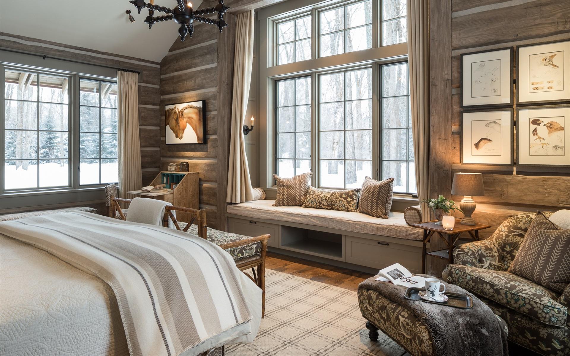 Schlafzimmer Fenster Bett Stuhle Kerzen 1920x1200 Hd Hintergrundbilder Hd Bild