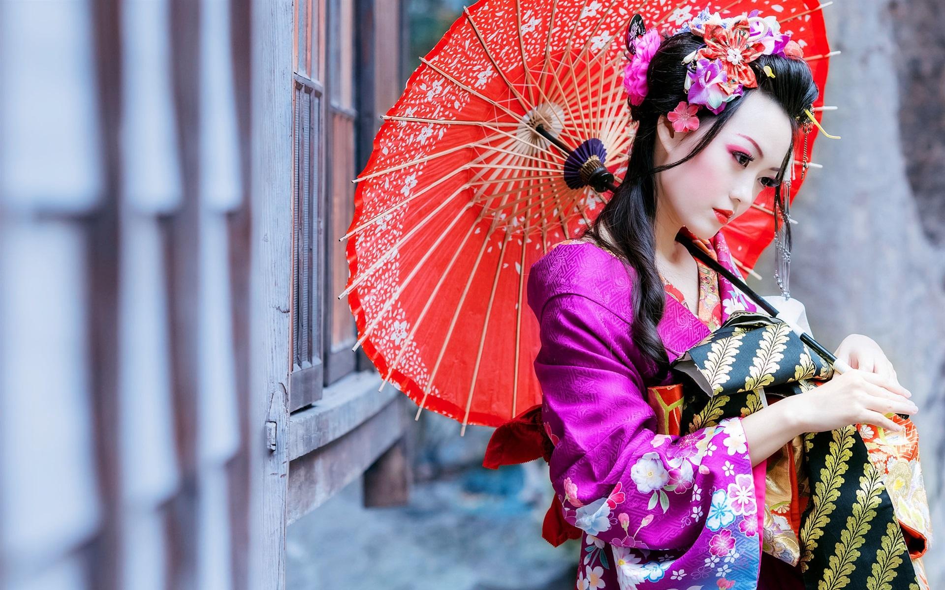Японская картинка с девушкой
