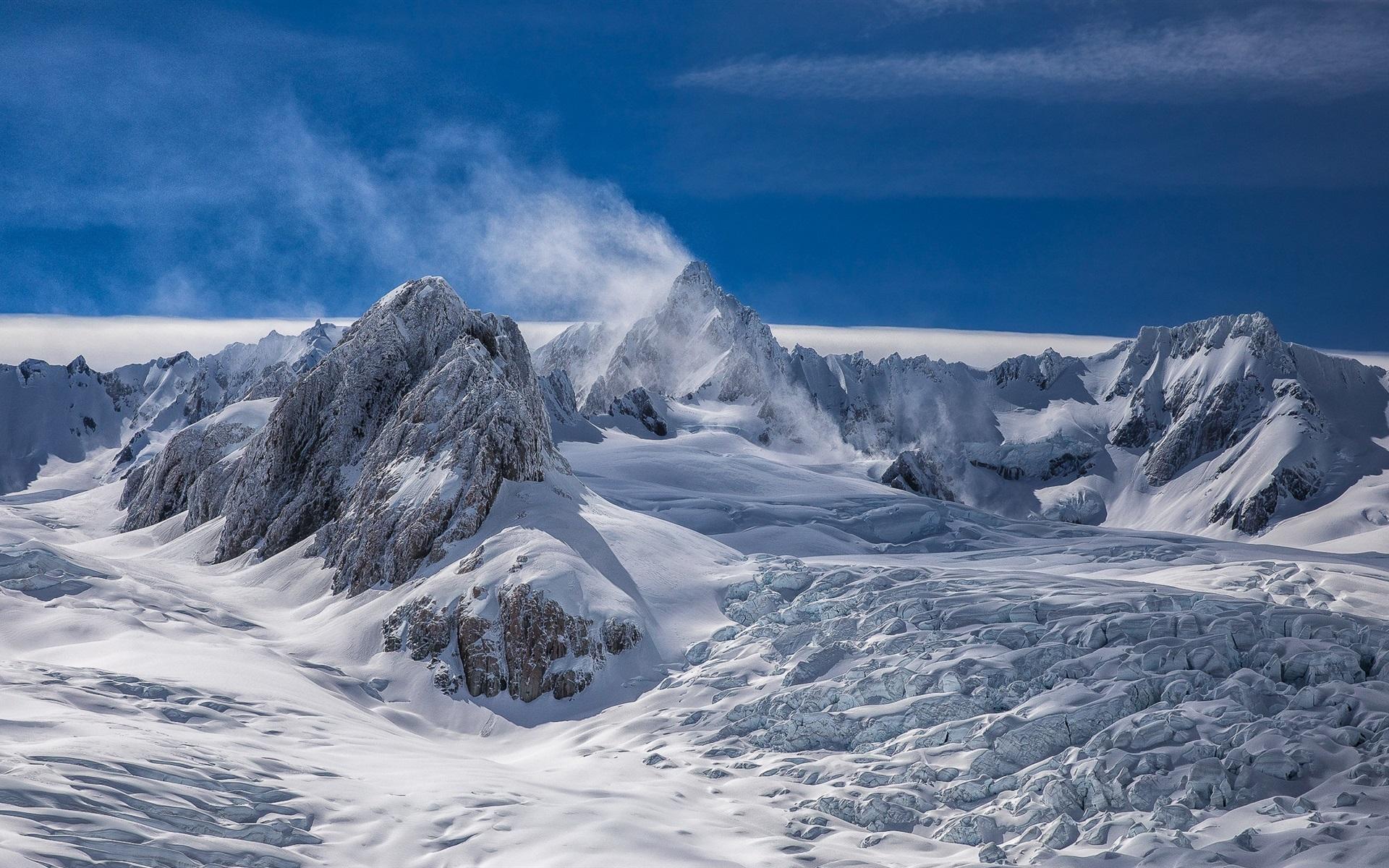 Fondo Escritorio Picos Montañas Nevadas: Fondos De Pantalla Nueva Zelanda, Picos, Nieve Blanca
