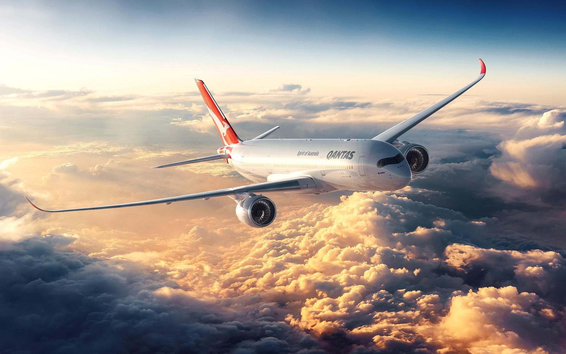 Самолет и небо фото