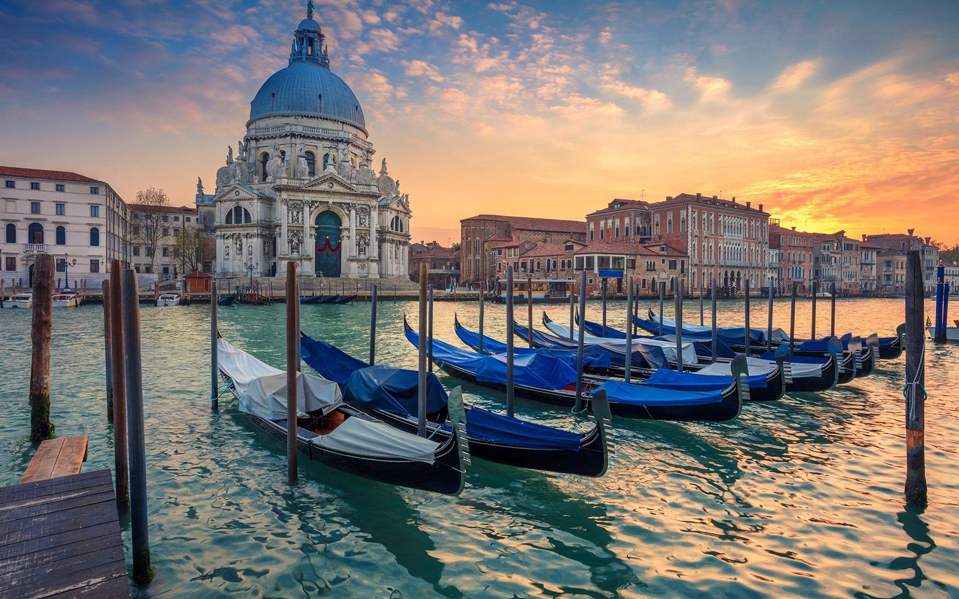 Обои Venezia, venice, italy, катер, канал, дома, венеция. Города foto 13