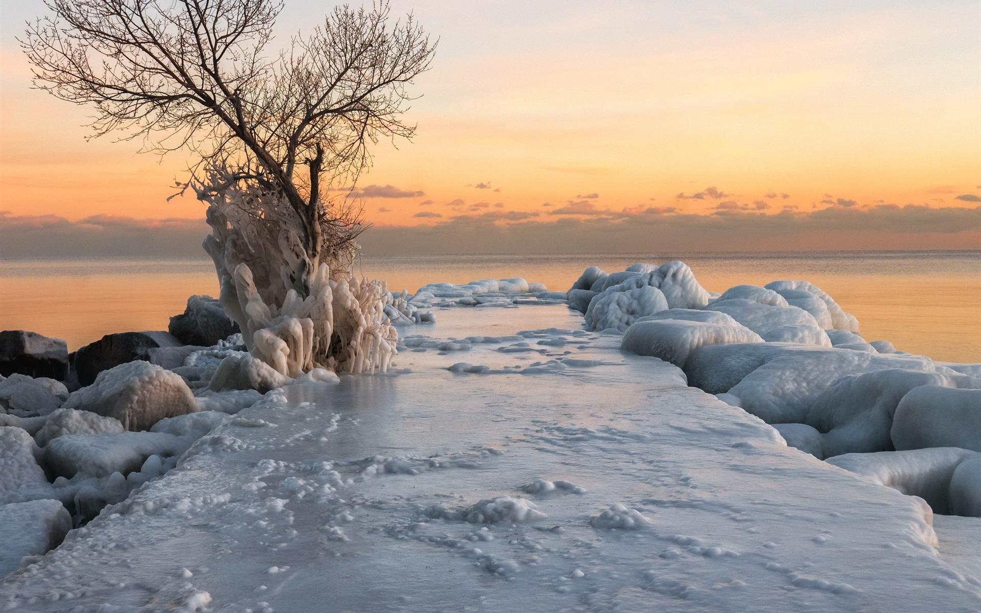Море зимой картинка