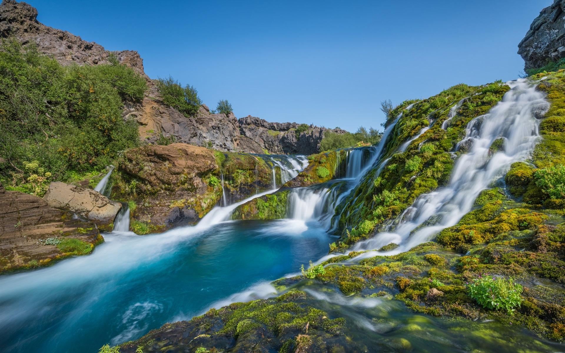 Fondos De Pantalla Islandia, Cascadas, Río, Paisaje De