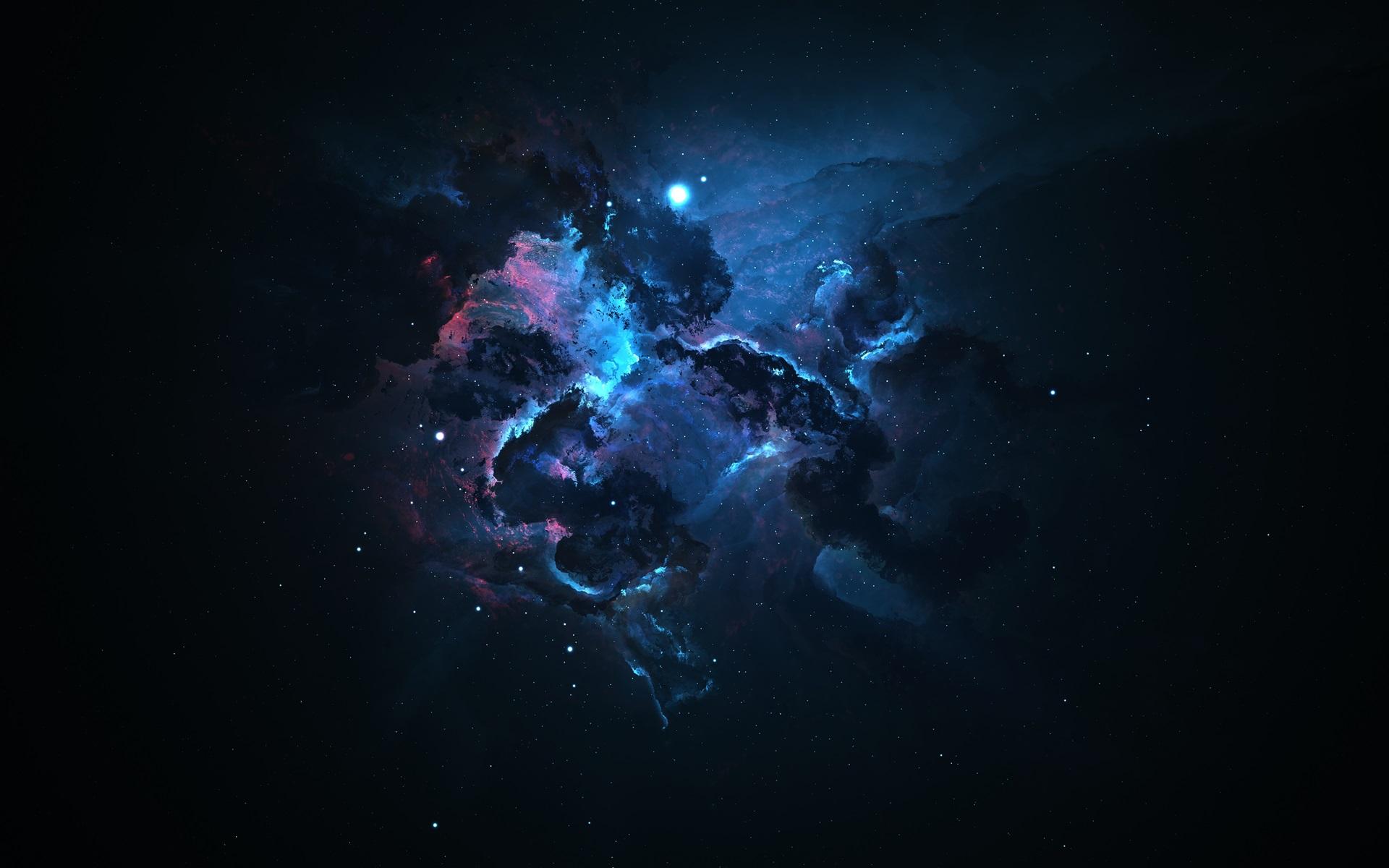 Wallpaper space galaxy nebula darkness 3840x2160 uhd 4k picture image - Galaxy nebula live wallpaper ...