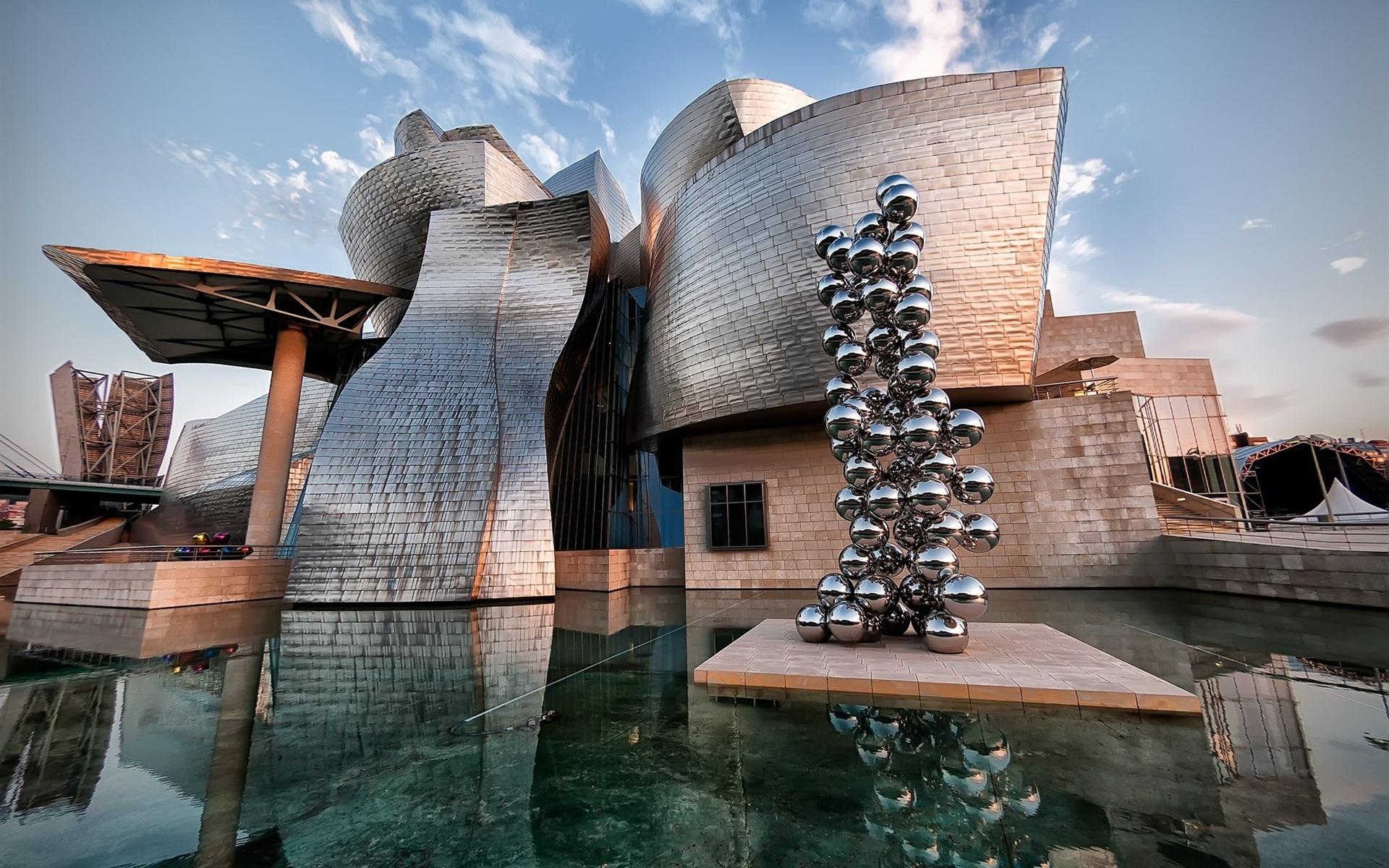 Guggenheim Museo.Wallpaper Spain Museo Guggenheim Bilbao 1920x1200 Hd Picture Image