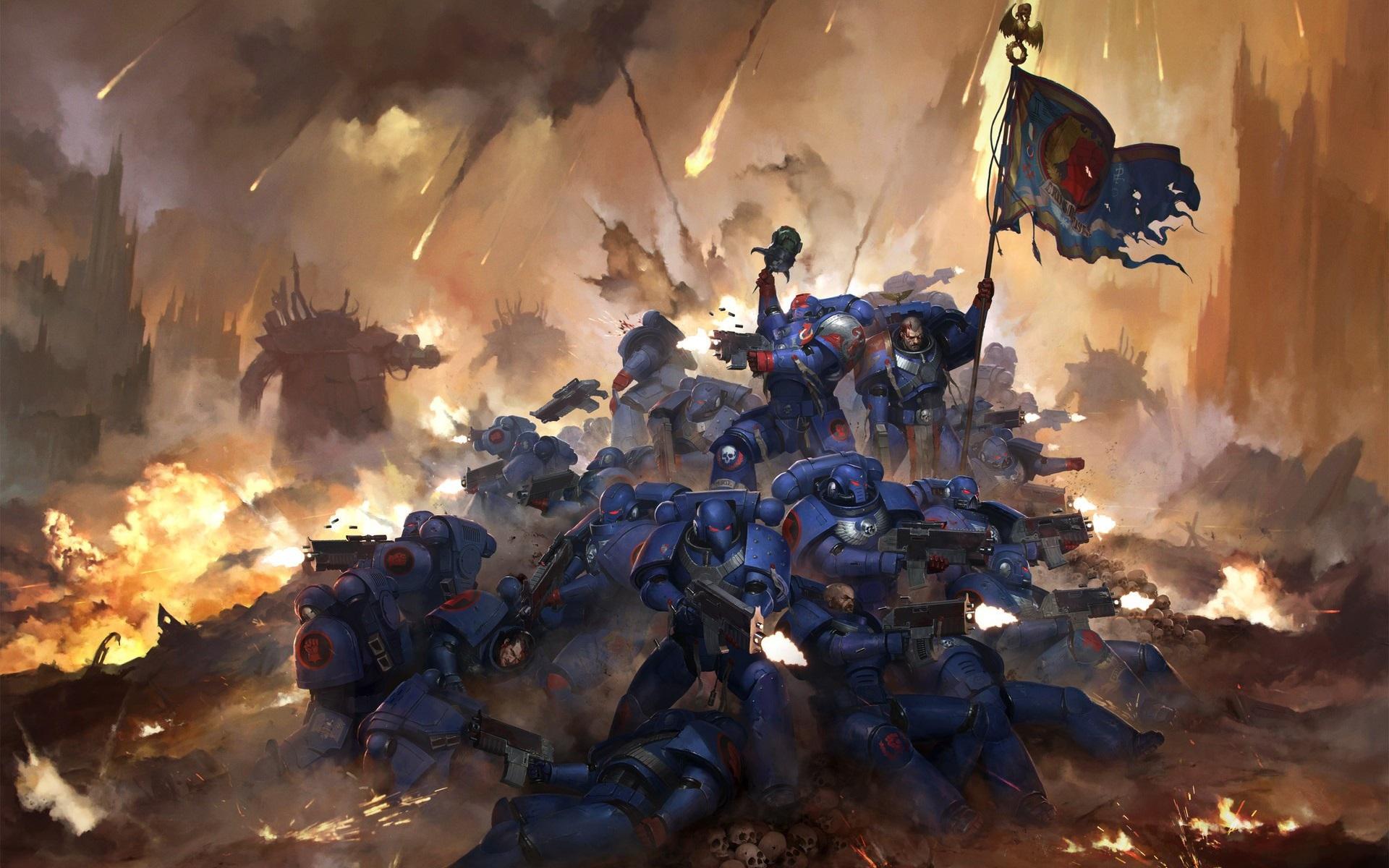 Wallpaper Warhammer 40000 30th Anniversary Warriors