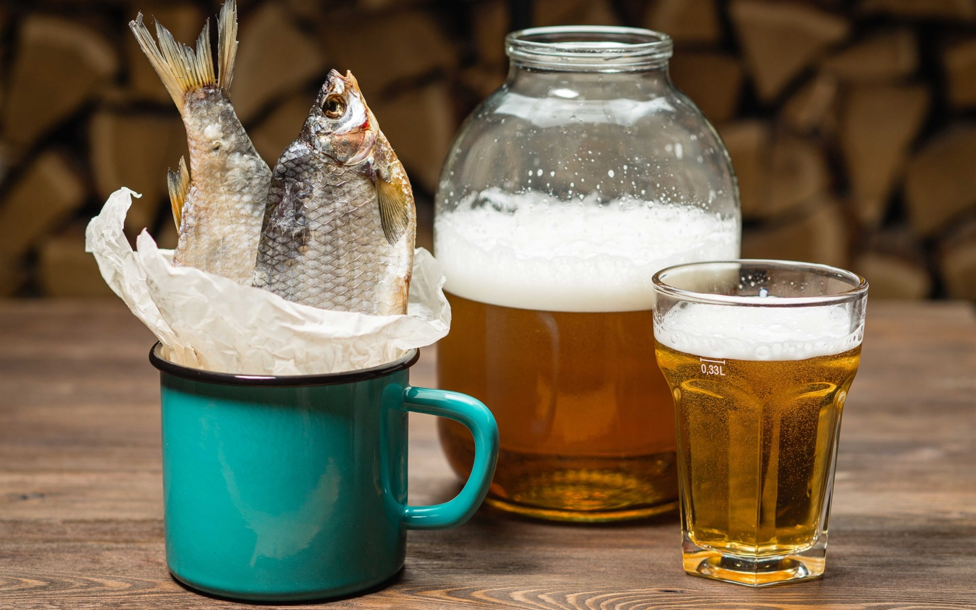 Wallpaper Beer Fish Cup 1920x1440 Hd Picture Image
