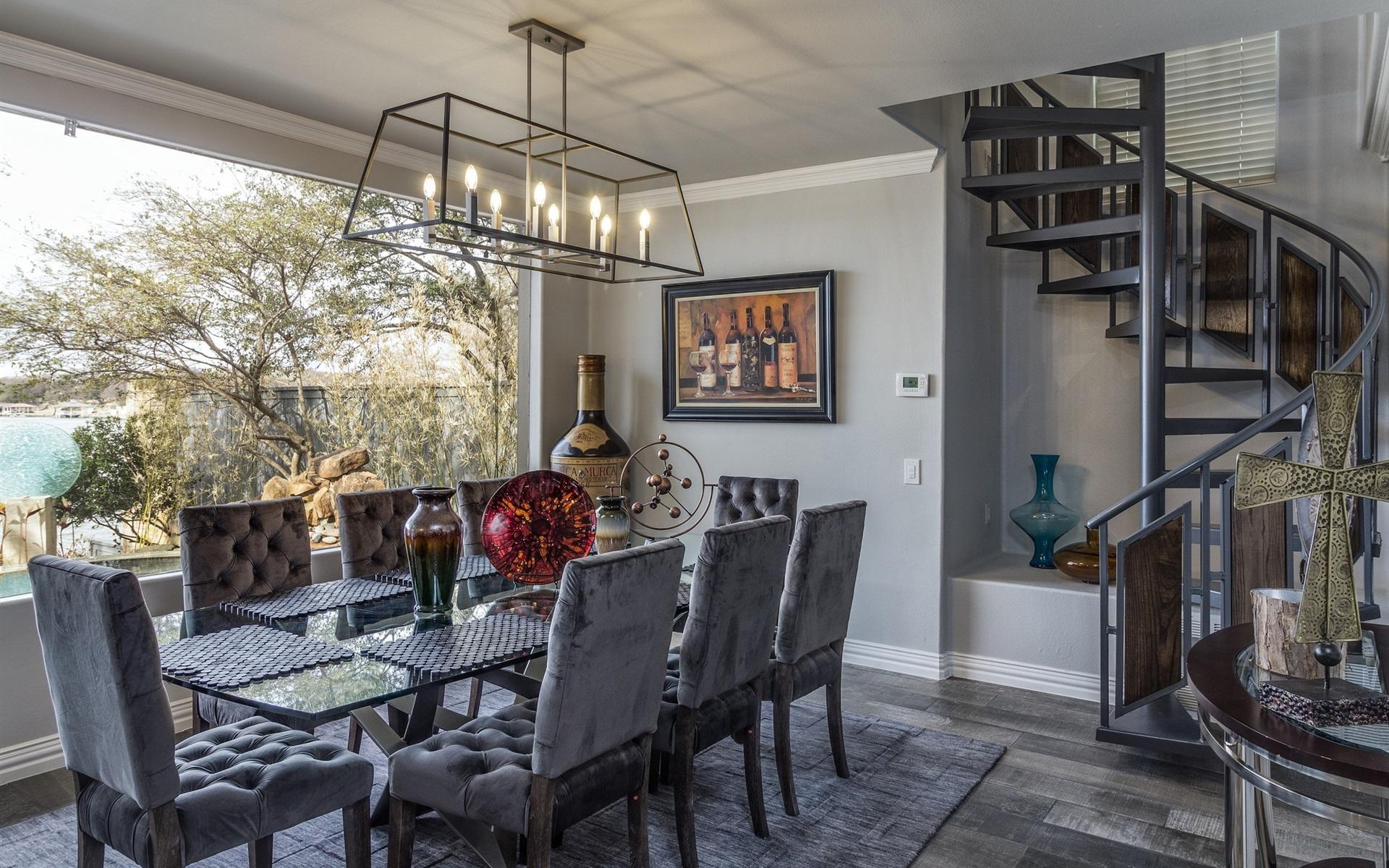 Esszimmer, Küche, Tisch, Stühle, Möbel, Interieur 1920x1200 HD ...