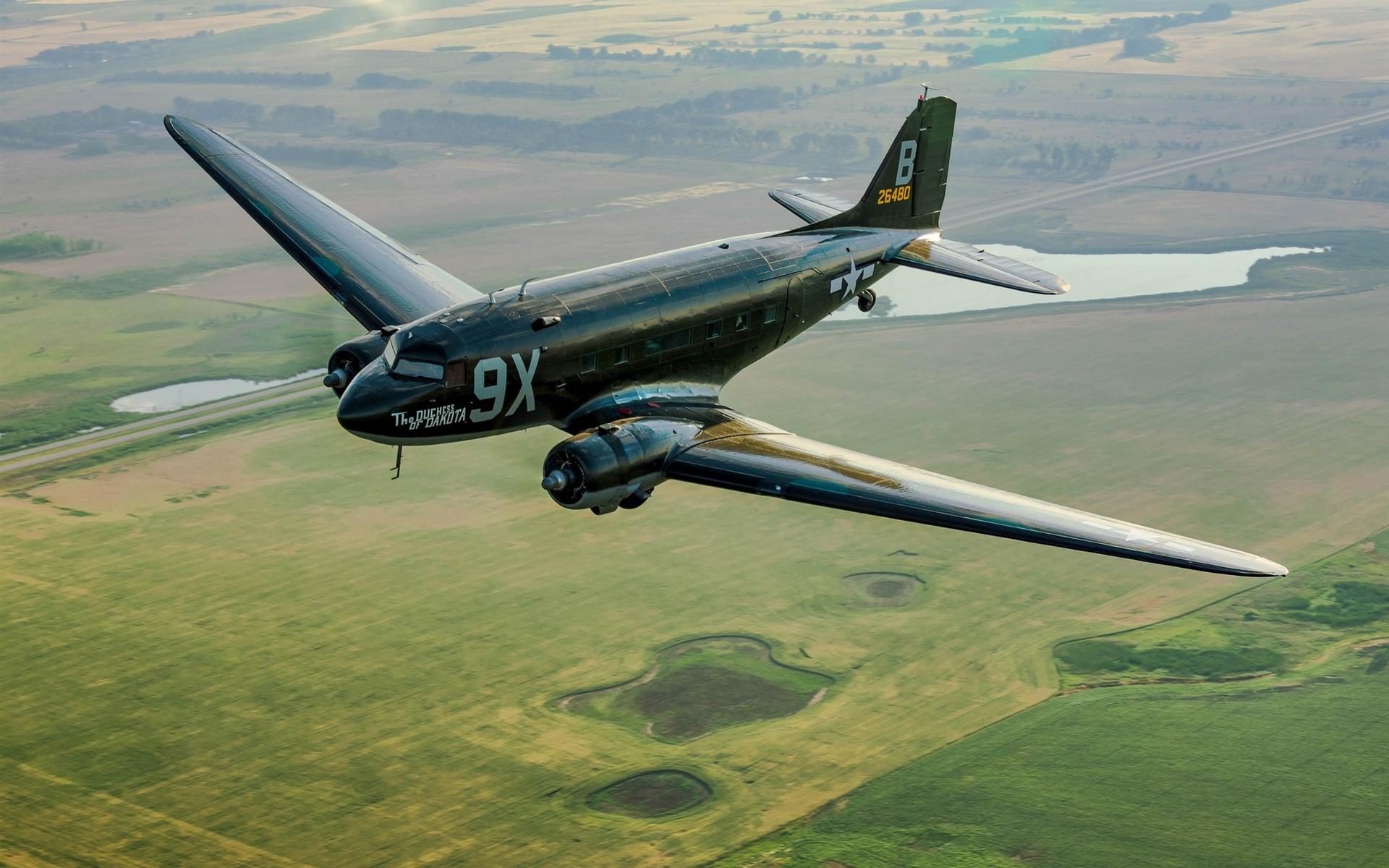 Обои Дуглас c-47, американский. Авиация foto 13