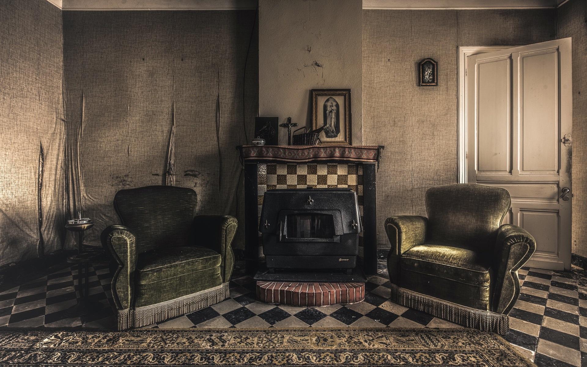 комната в ретро стиле картинки просеянную муку креманку