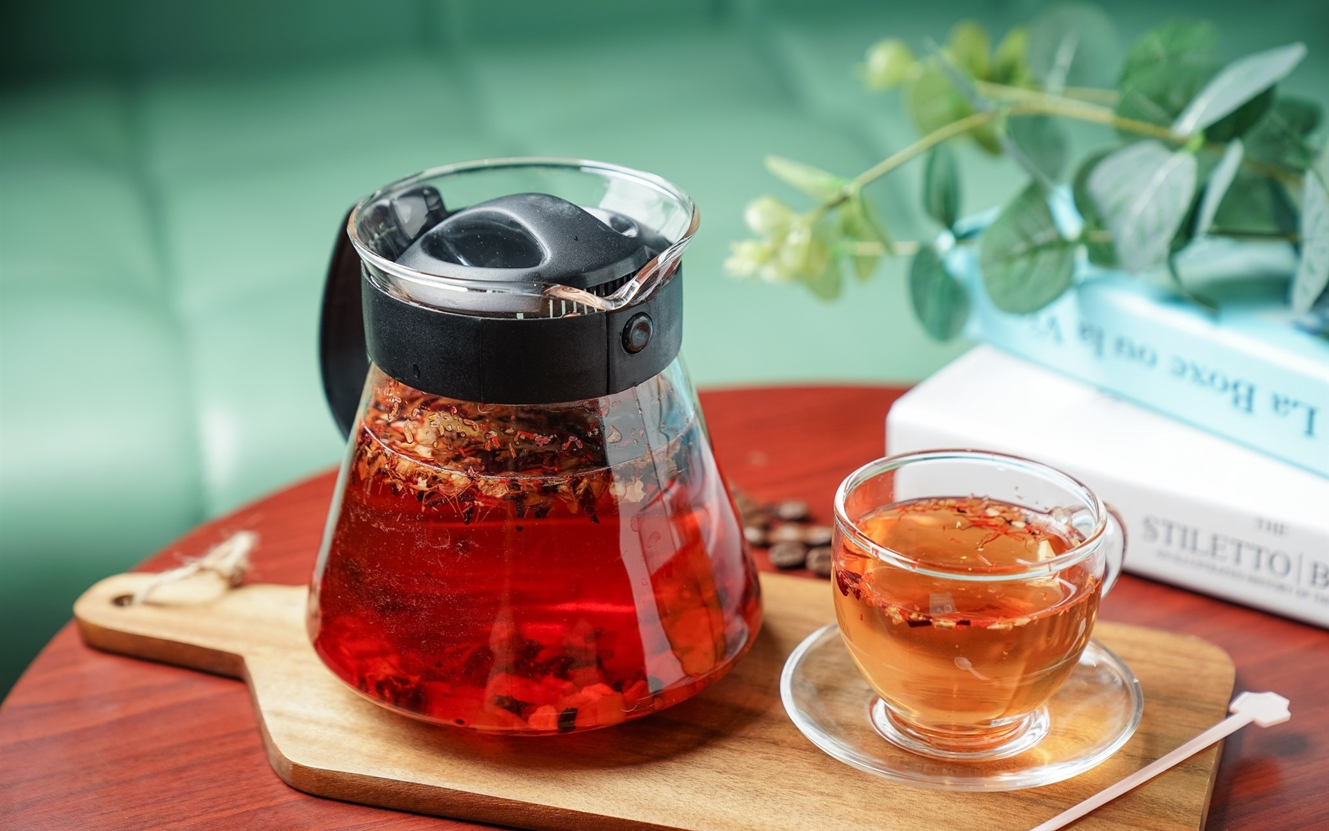 Wallpaper Glass Cup Teapot Tea 1920x1200 Hd Picture Image