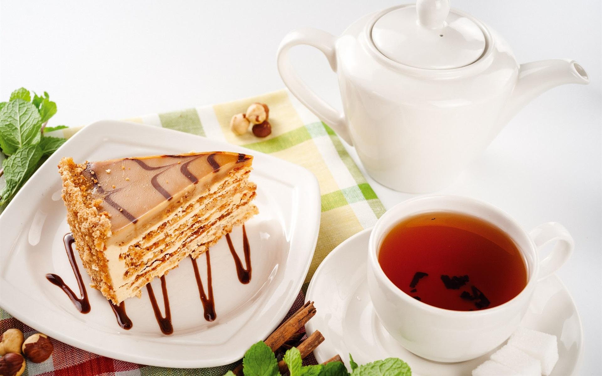 прежде чай и кусочек торта картинки дама