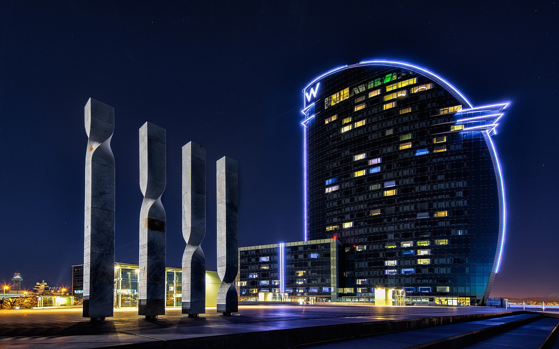 Fondo Espana Hd: Fondos De Pantalla España, Barcelona, Edificios, Luces