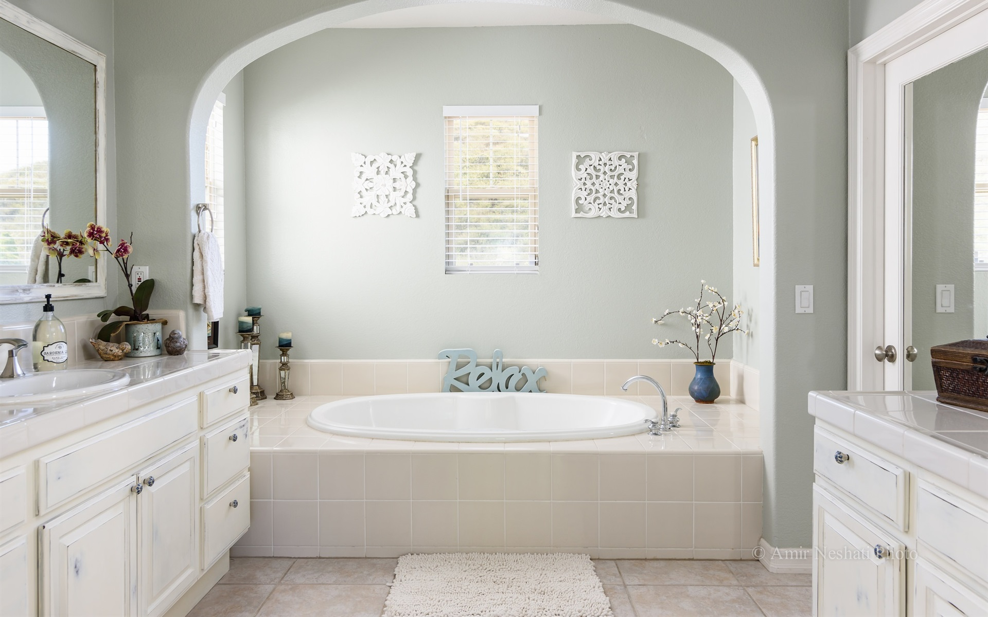 Fondos de pantalla Cuarto de baño, estilo blanco 1920x1200 ...