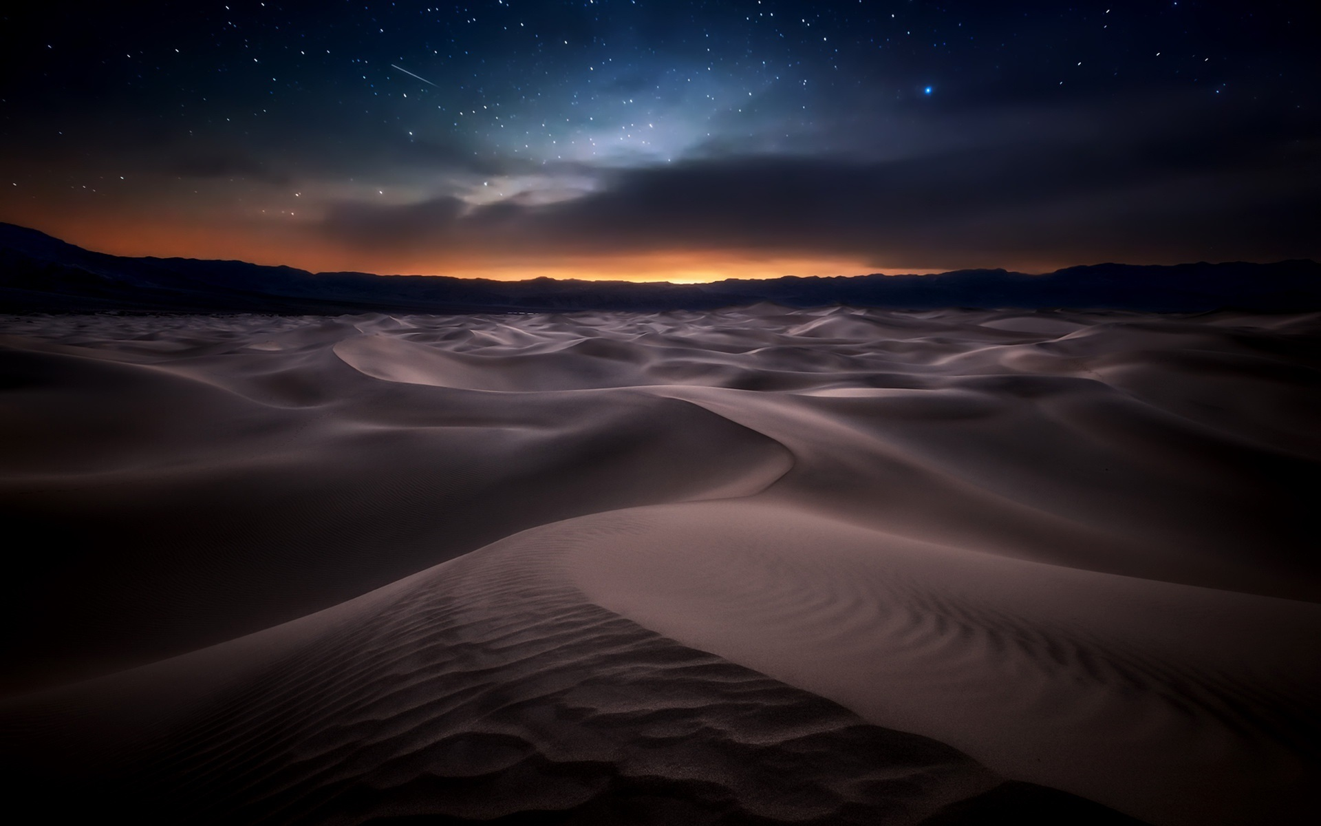 Wallpaper Desert, Night, Starry 1920x1200 HD Picture, Image