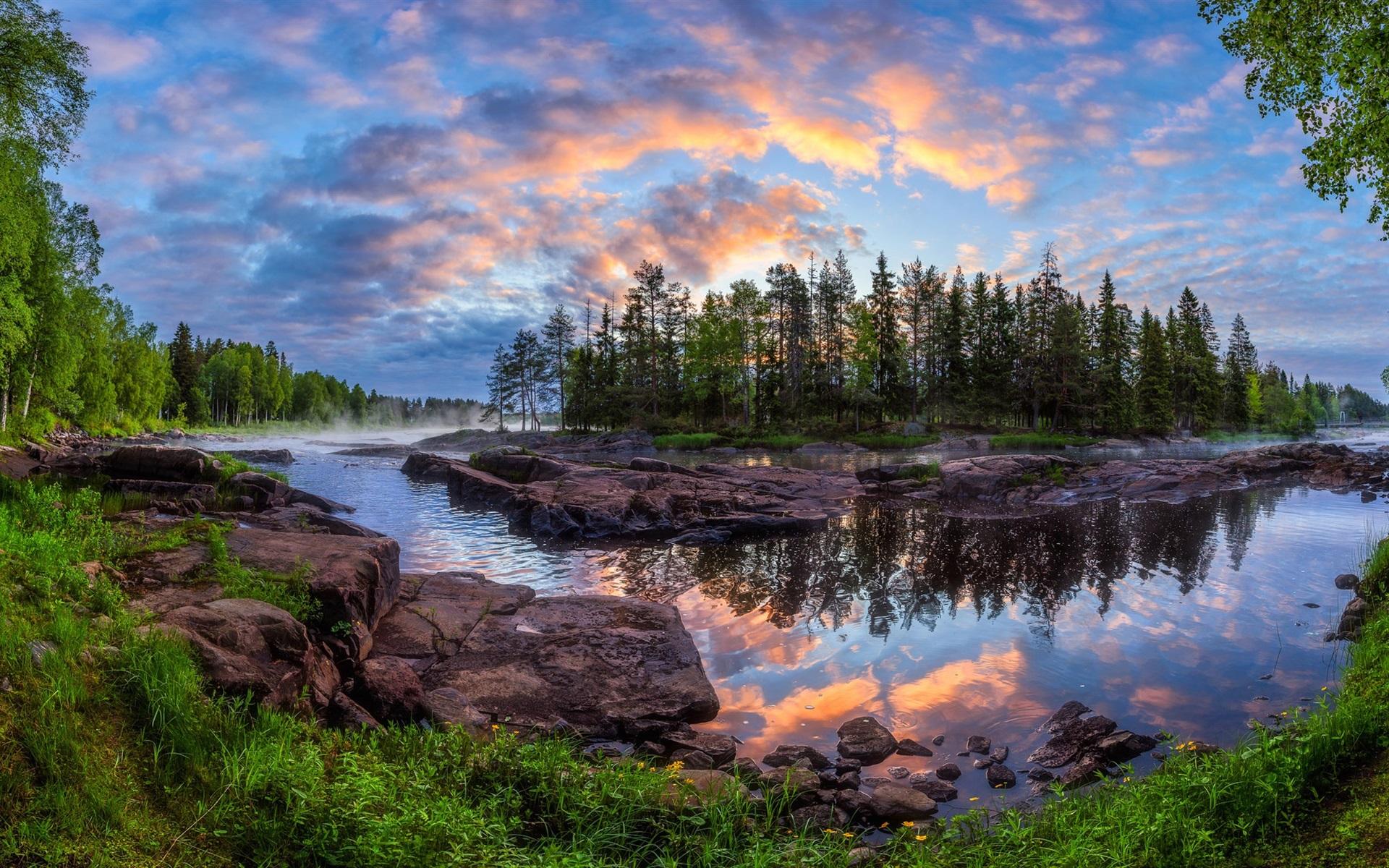 finland beautiful nature landscape river wallpaper kiiminki trees forest wallpapers hd backgrounds wallpaperaccess
