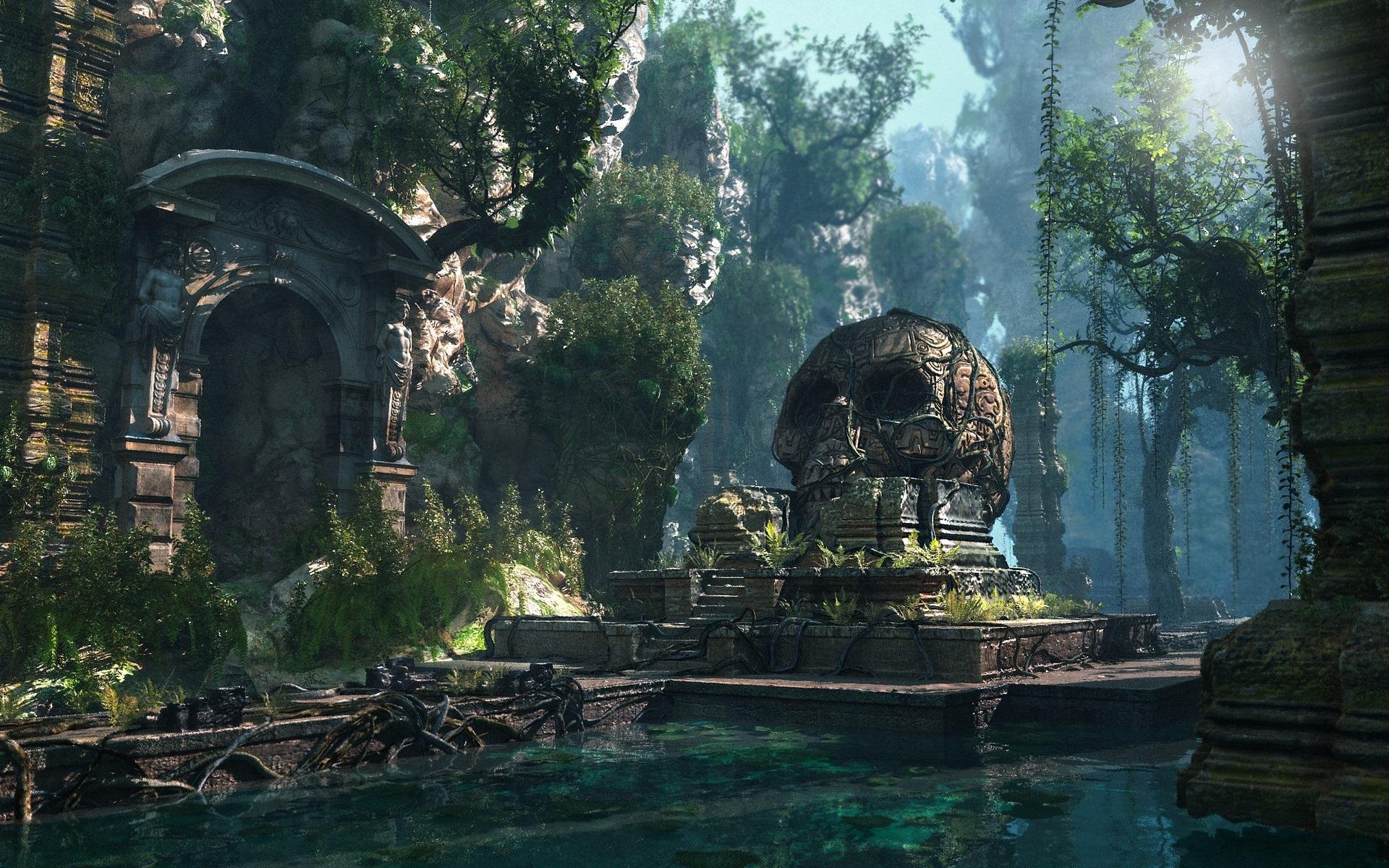 壁紙 失われた文明 頭蓋骨 池 森林 Pcゲーム 19x10 Hd 無料のデスクトップの背景 画像