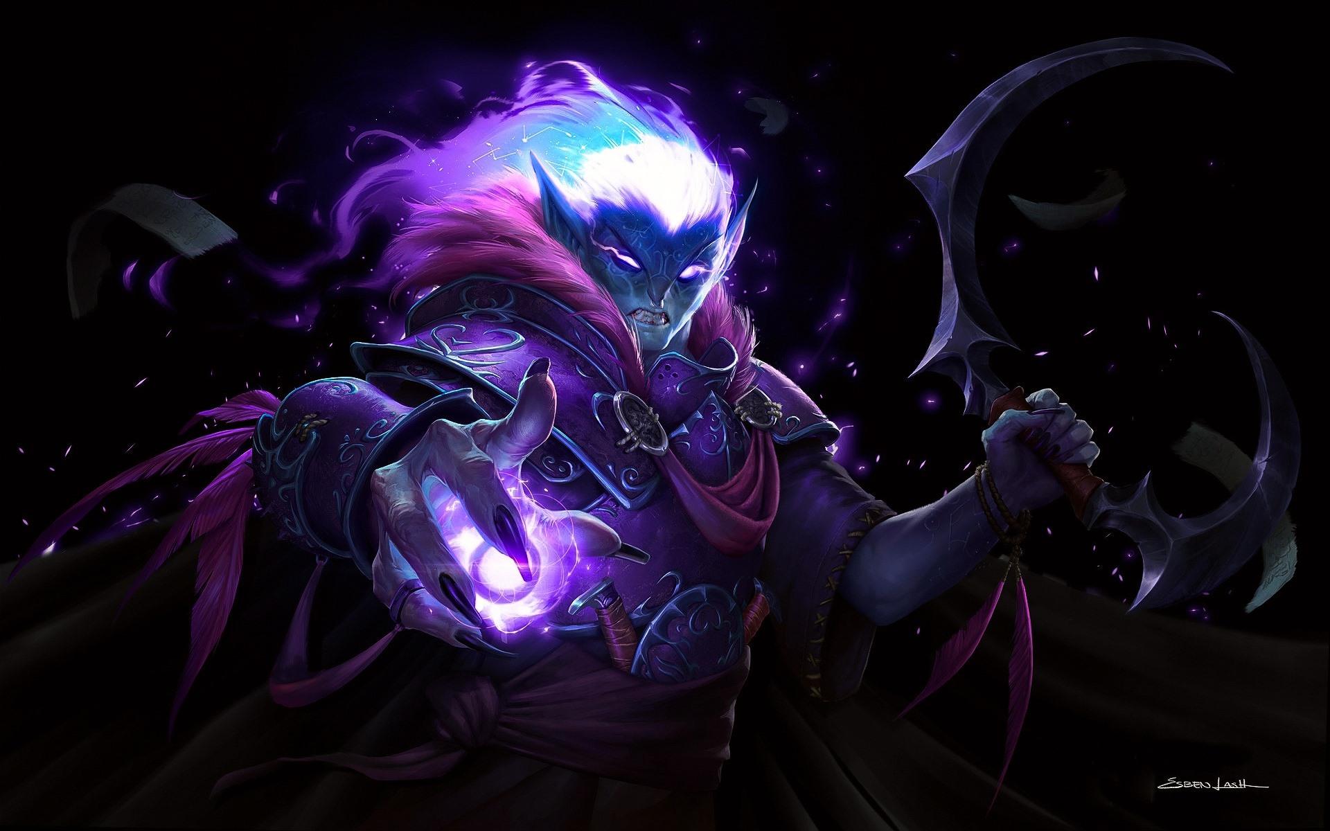 Wallpaper Dark Elf World Of Warcraft Wow Art Picture 1920x1200
