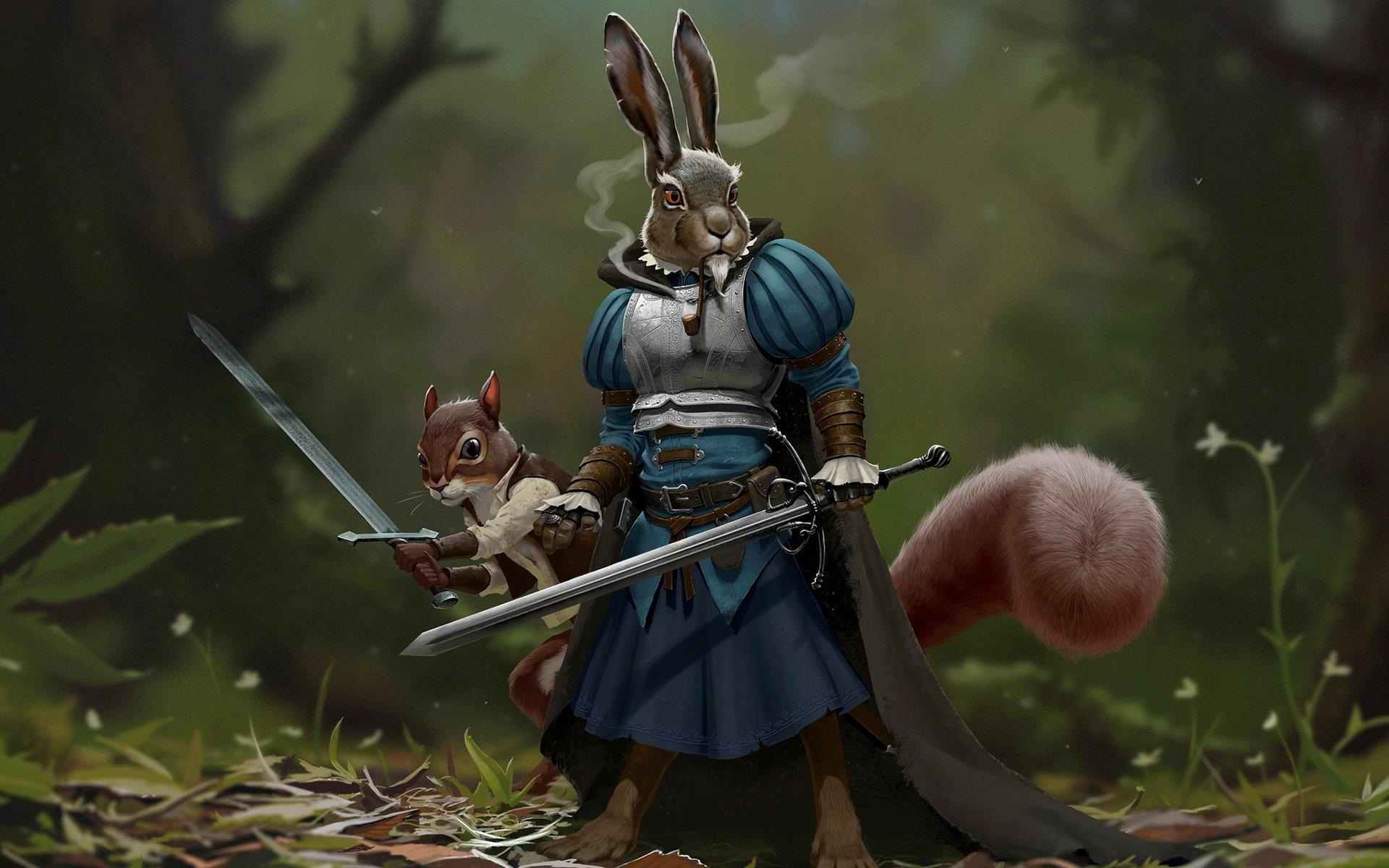кролики фэнтези картинки несколько