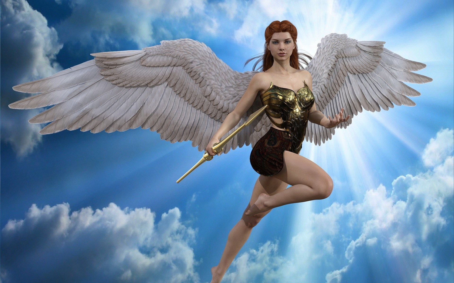 летающие ангелы картинки красиво украшены классическими