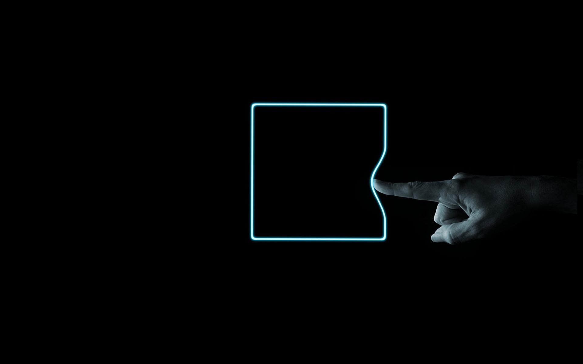 壁纸霓虹方形 手指 黑色背景1920x1200 Hd 高清壁纸 图片 照片