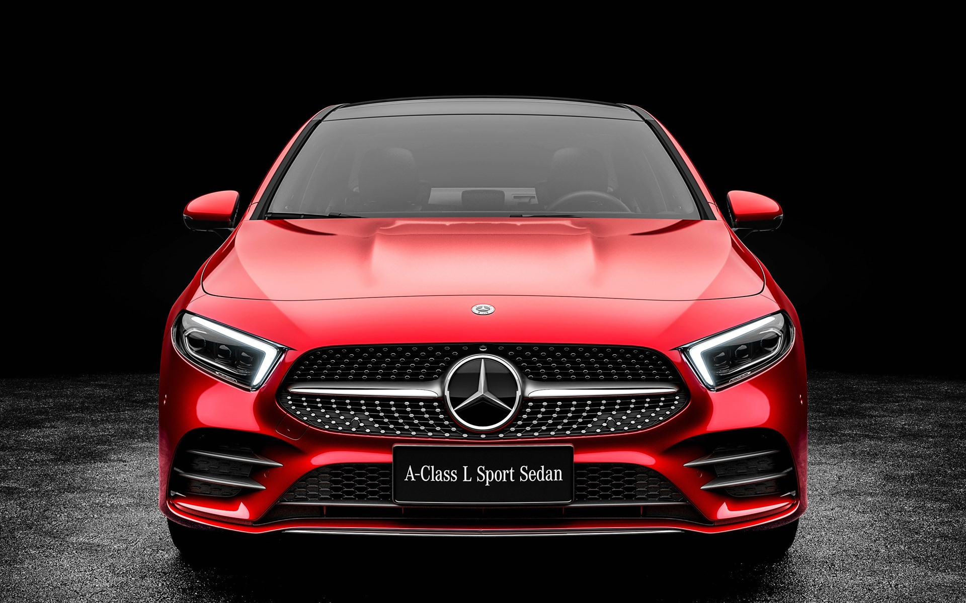 Wallpaper 2019 Mercedes Benz A Class A200 Red Car Front
