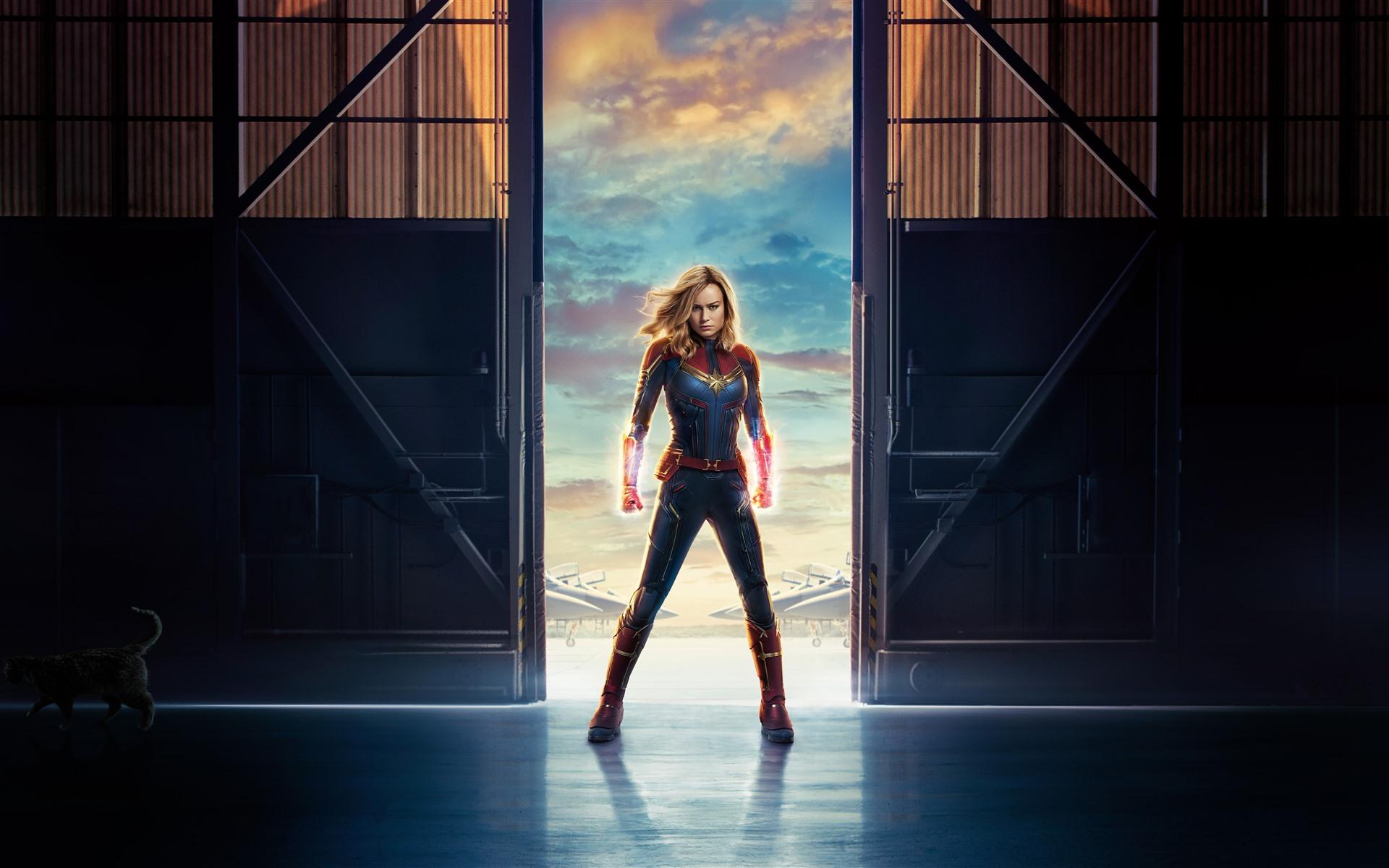 Captain Marvel, Brie Larson, Marvel movie 2019 1242x2688 ...