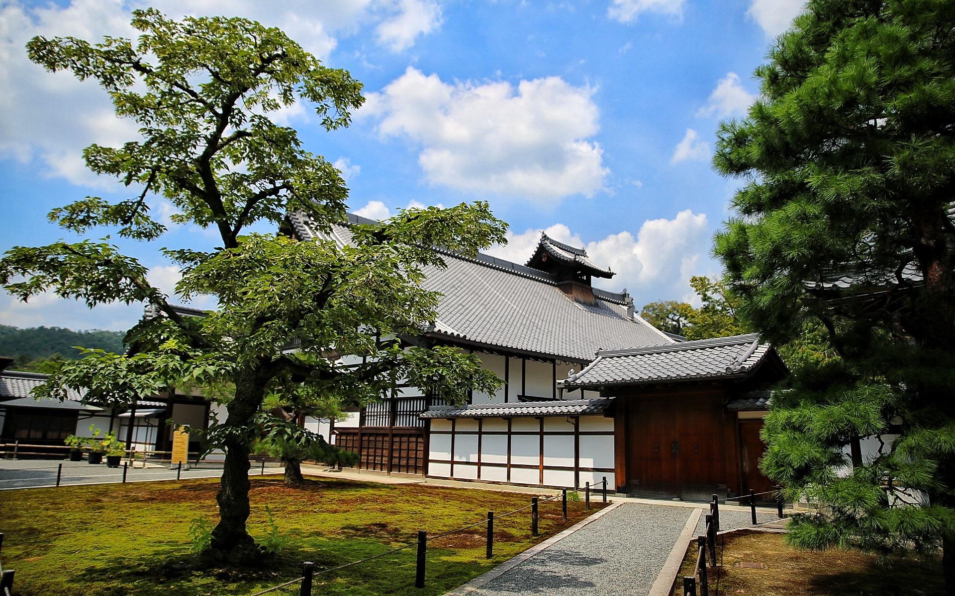 壁紙 日本 京都 名古屋 住宅 木々 1920x1200 Hd 無料の