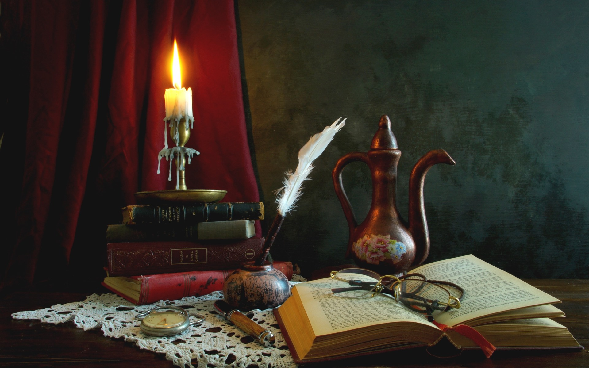 свеча и ручка картинка