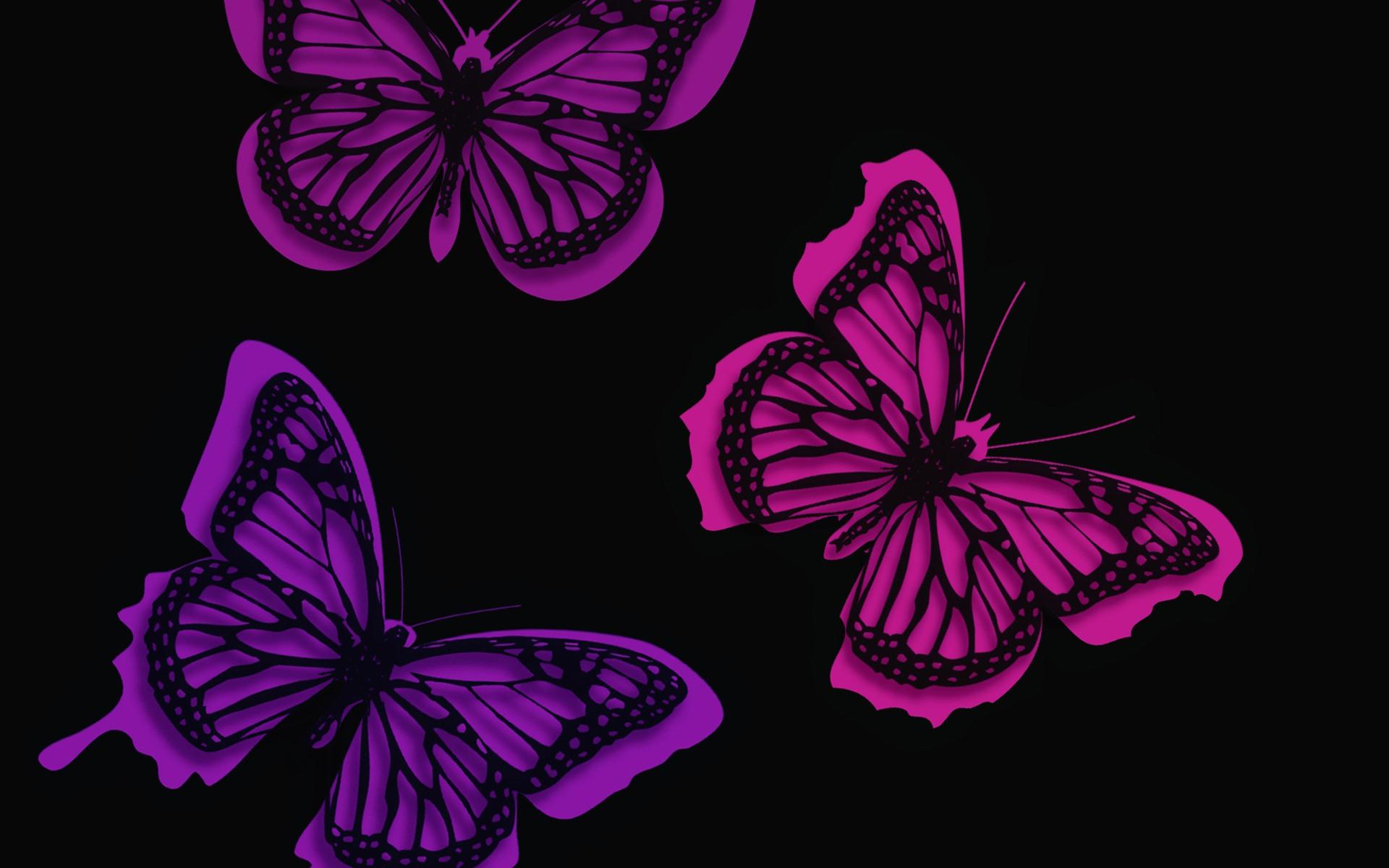 Картинки черные с фиолетовыми рисунками