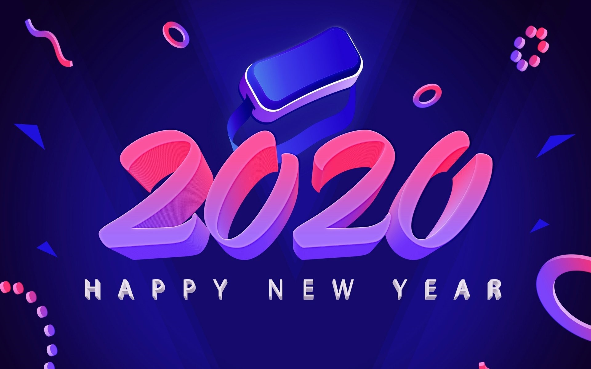 Wallpaper Happy New Year 2020 Art Picture Creative 1920x1200 Hd Picture Image