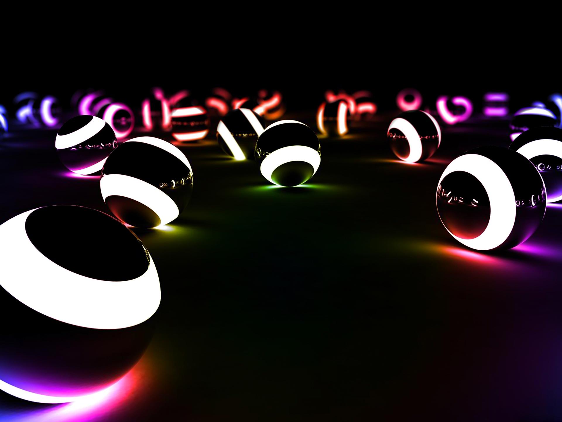 Неоновый свет от 3d объекта  № 941141  скачать