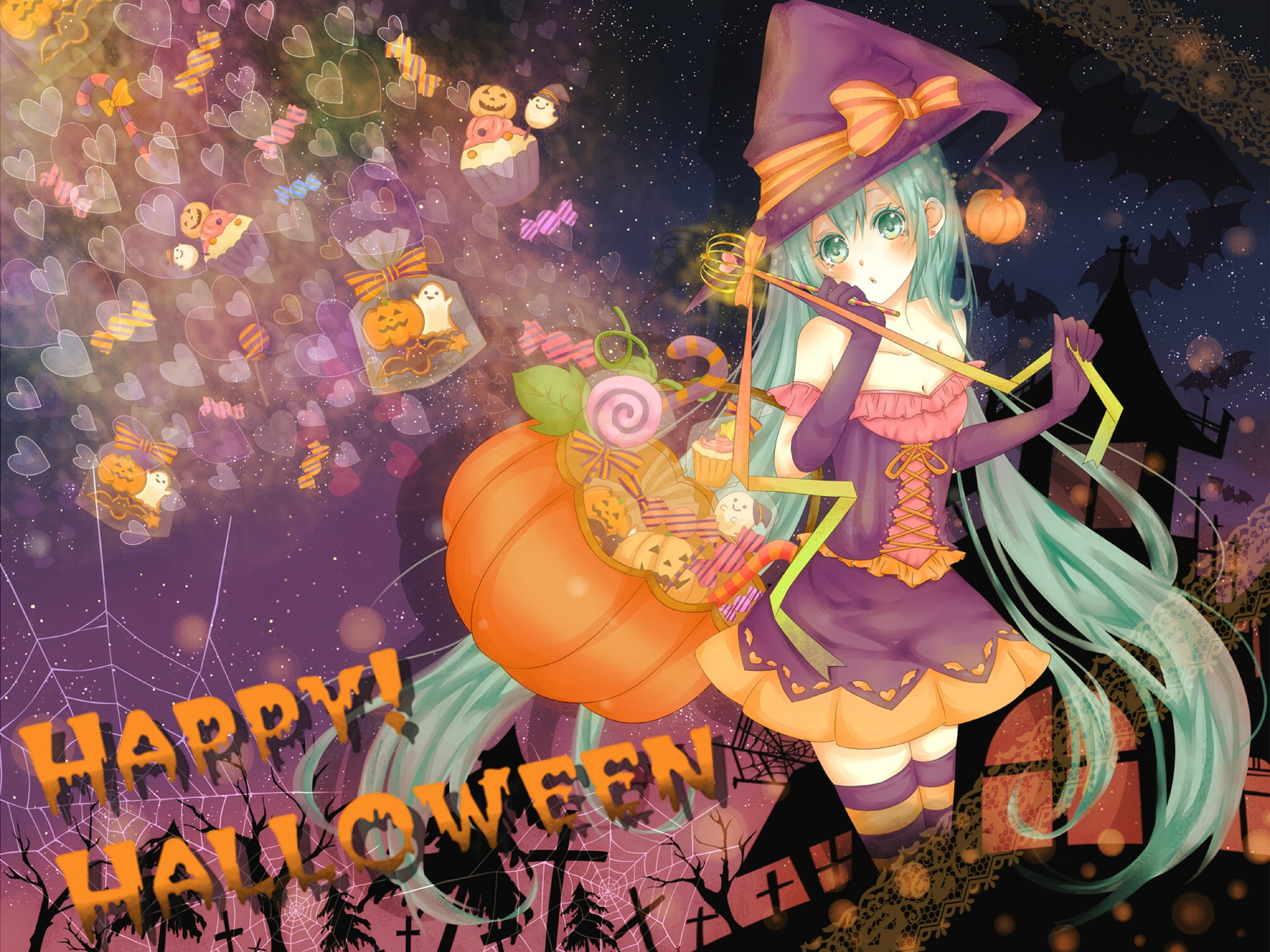 wallpaper halloween anime girl 1920x1440 hd picture image