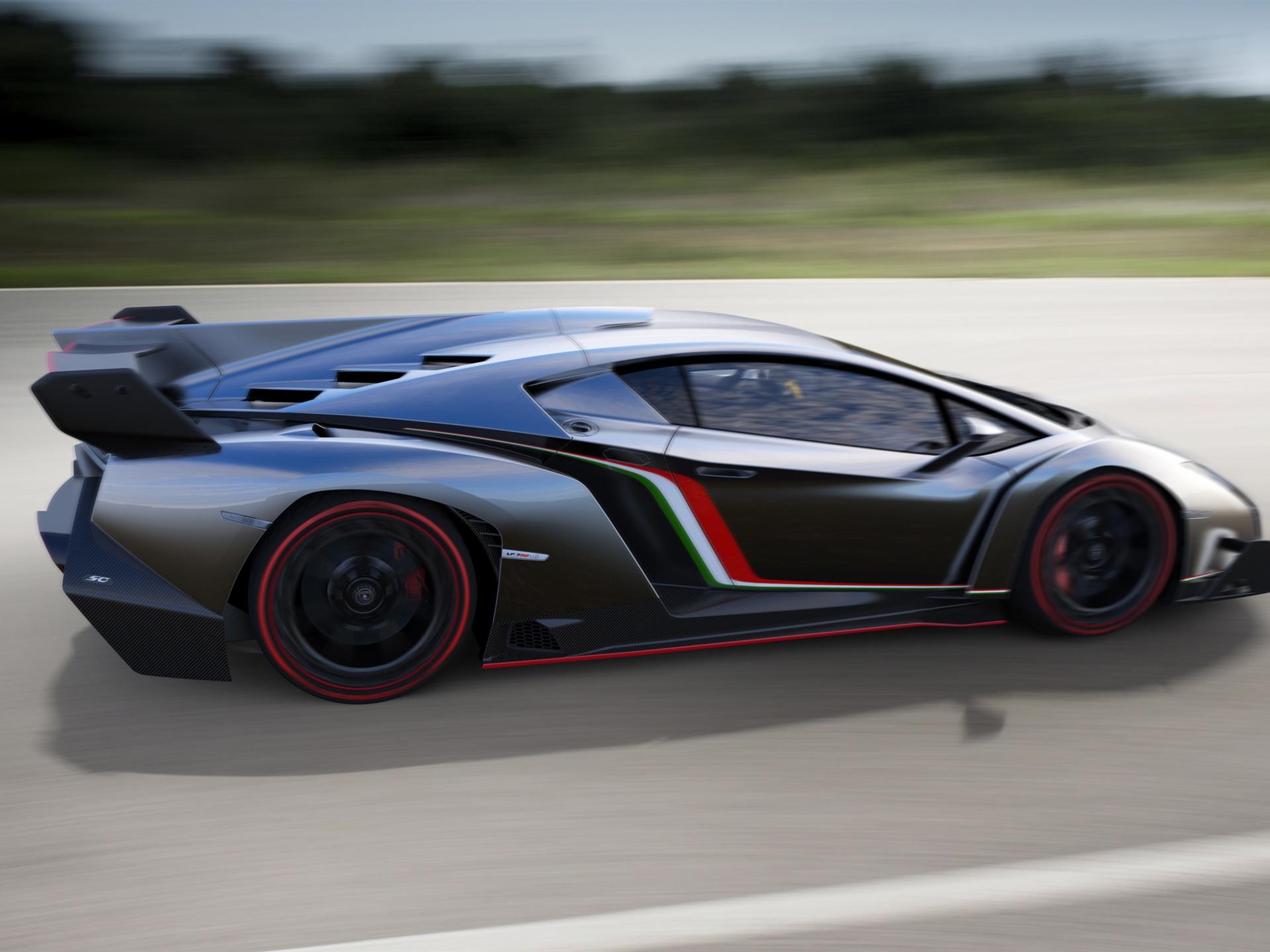 ĸ�载壁纸 1920x1440 2013年的超级跑车兰博基尼veneno在高速运行 ơ�面背景