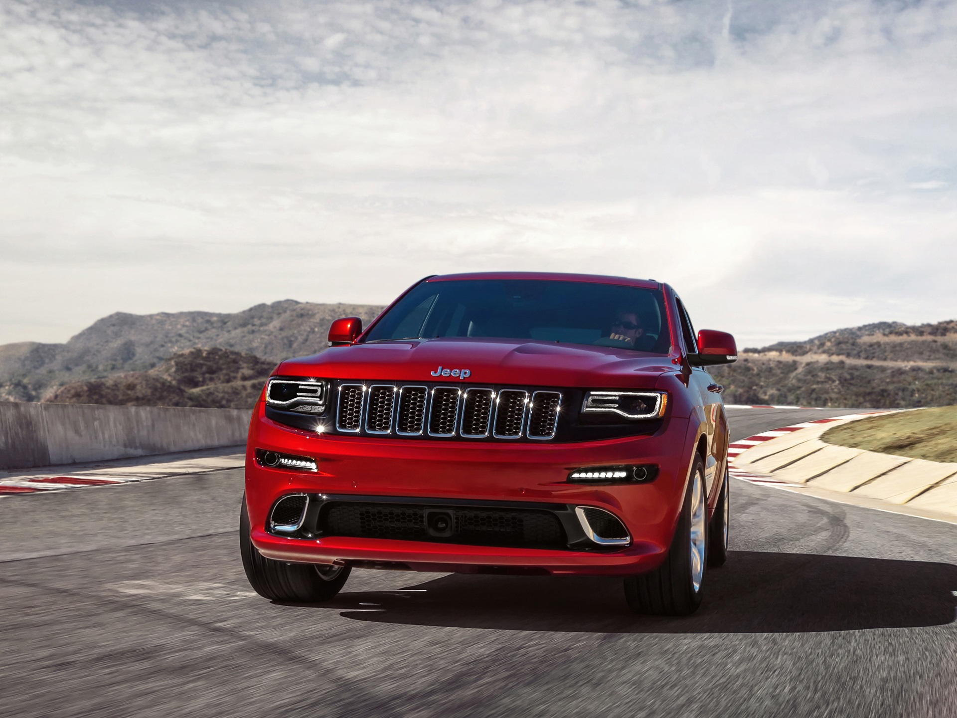 Wallpaper Jeep Grand Cherokee Srt Red Car Front View 1920x1440 Hd
