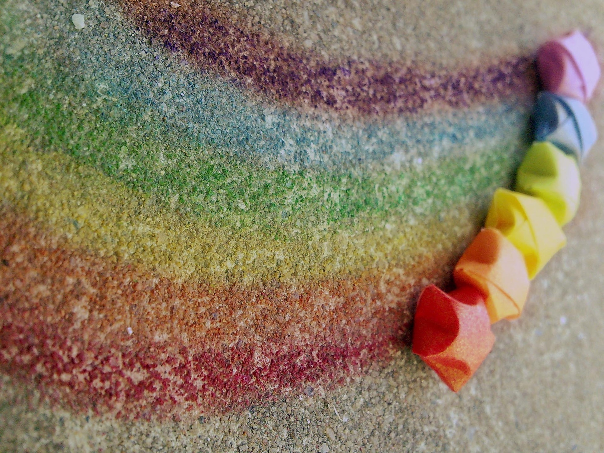 Wallpaper Rainbow Chalk Colorful Creative Colors Lines
