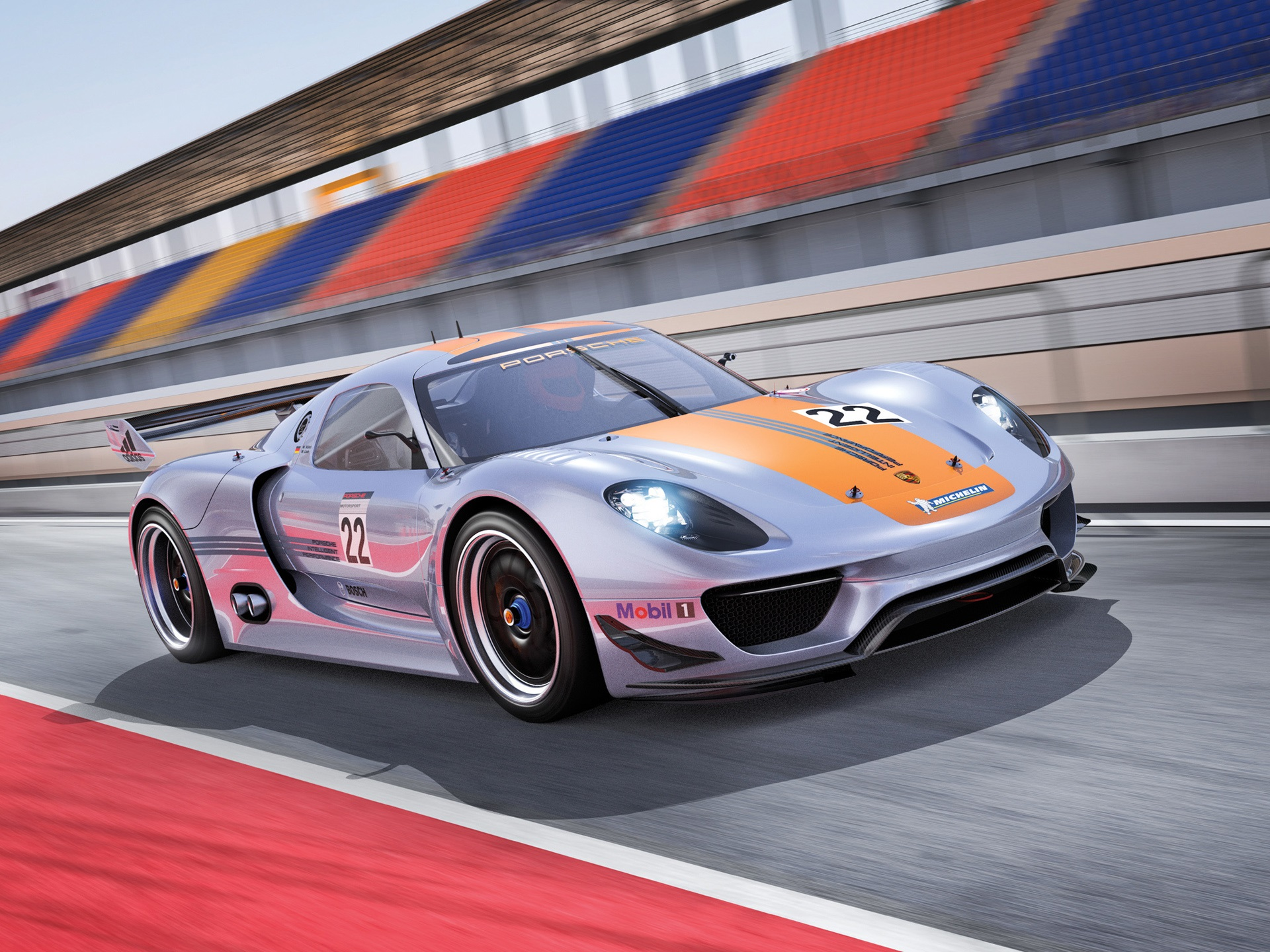 Wallpaper Porsche 918 RSR Concept Supercar Side View 1920x1440 HD